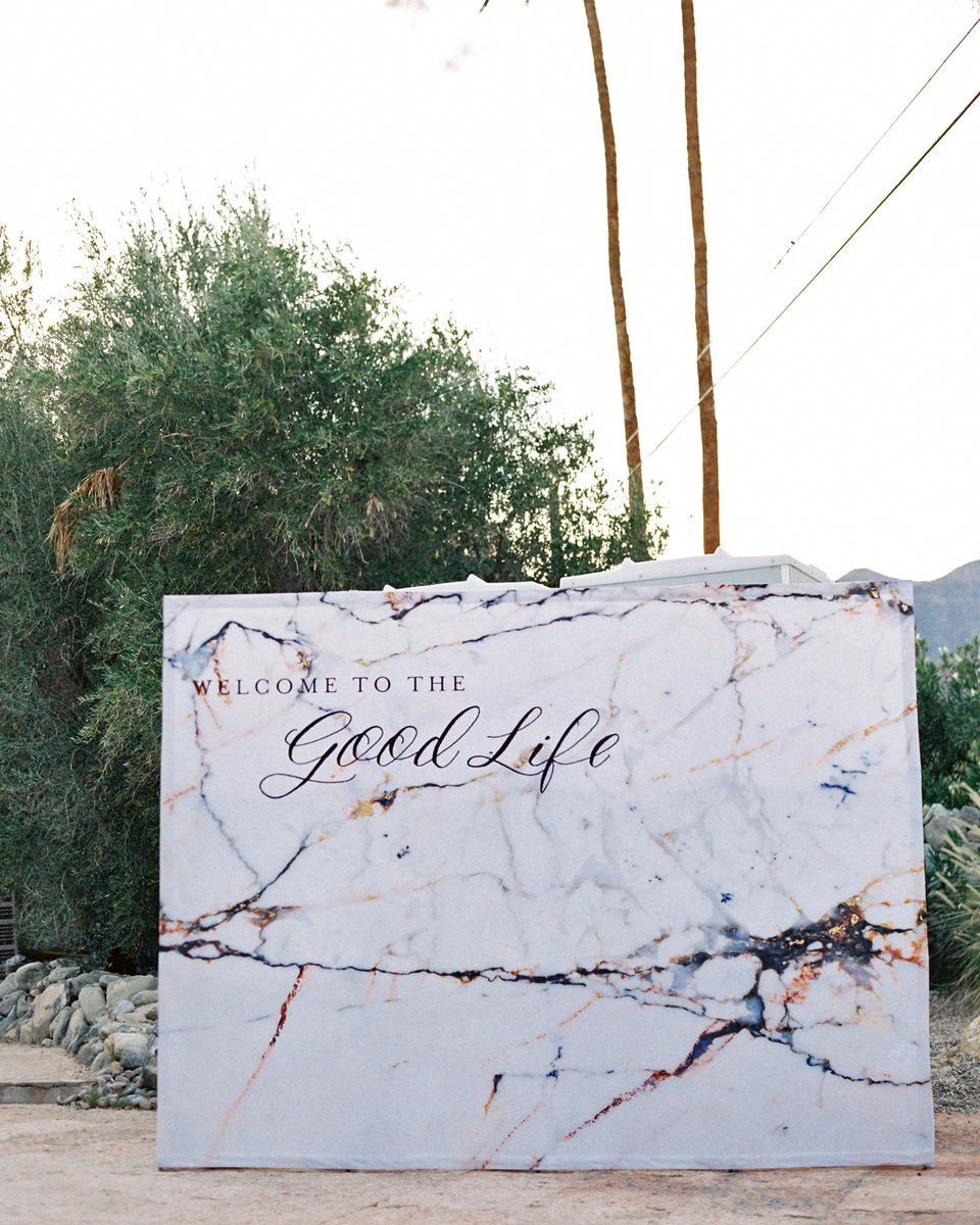 quotes at weddings photo backdrop marble print