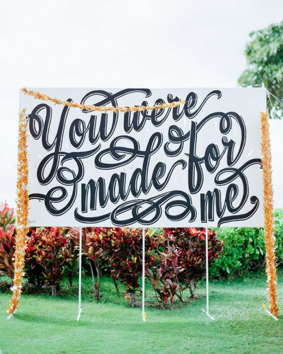 quotes at weddings billboard style sign
