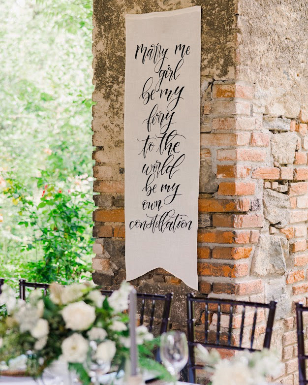 quotes at weddings reception banner
