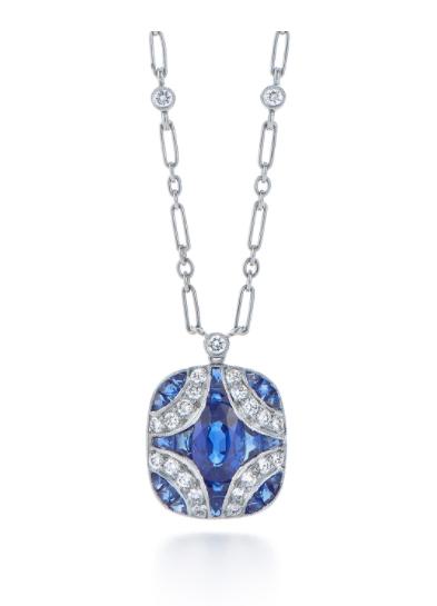 blue silver pendant necklace