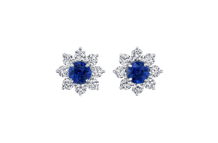 blue pendant earrings