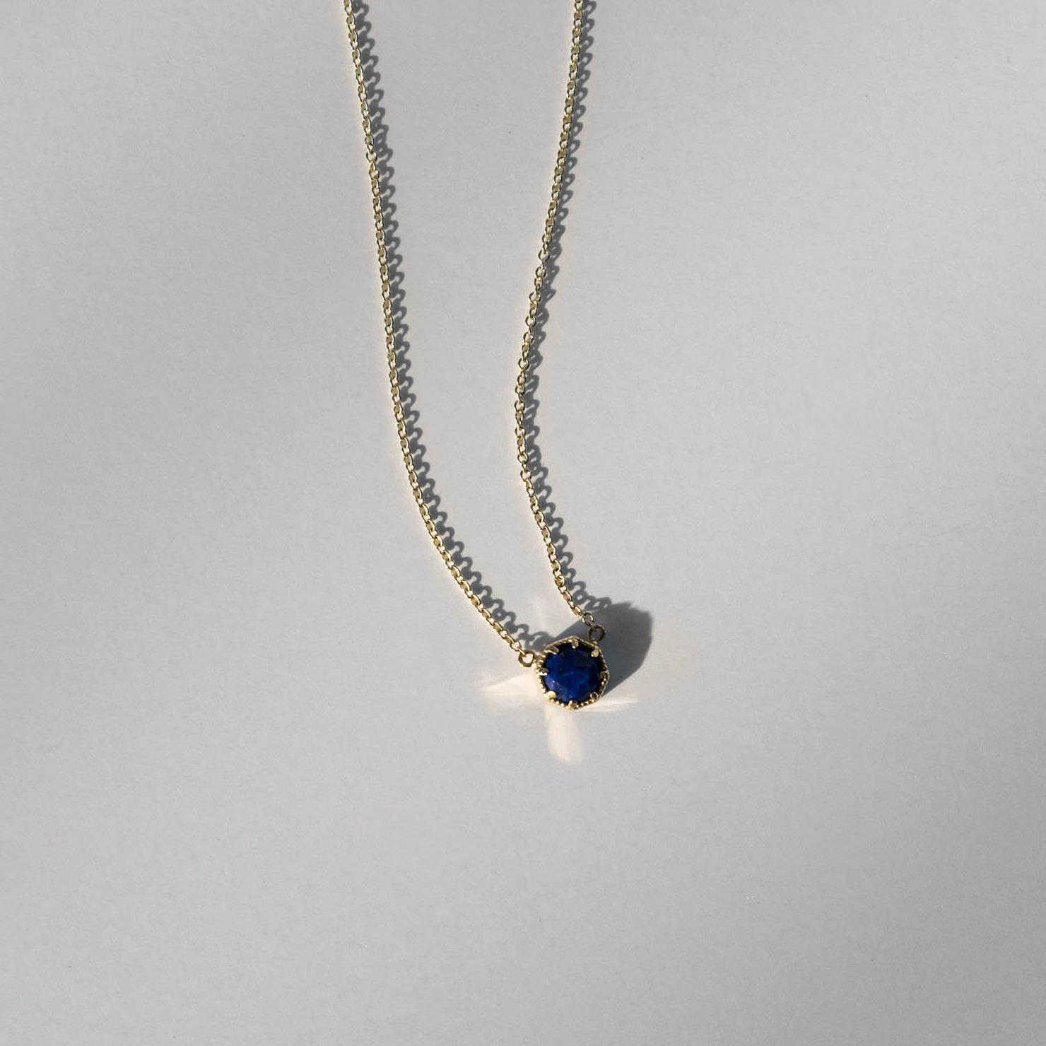 blue round pendant necklace