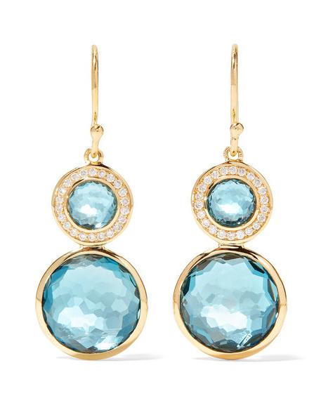 teal pendant earrings