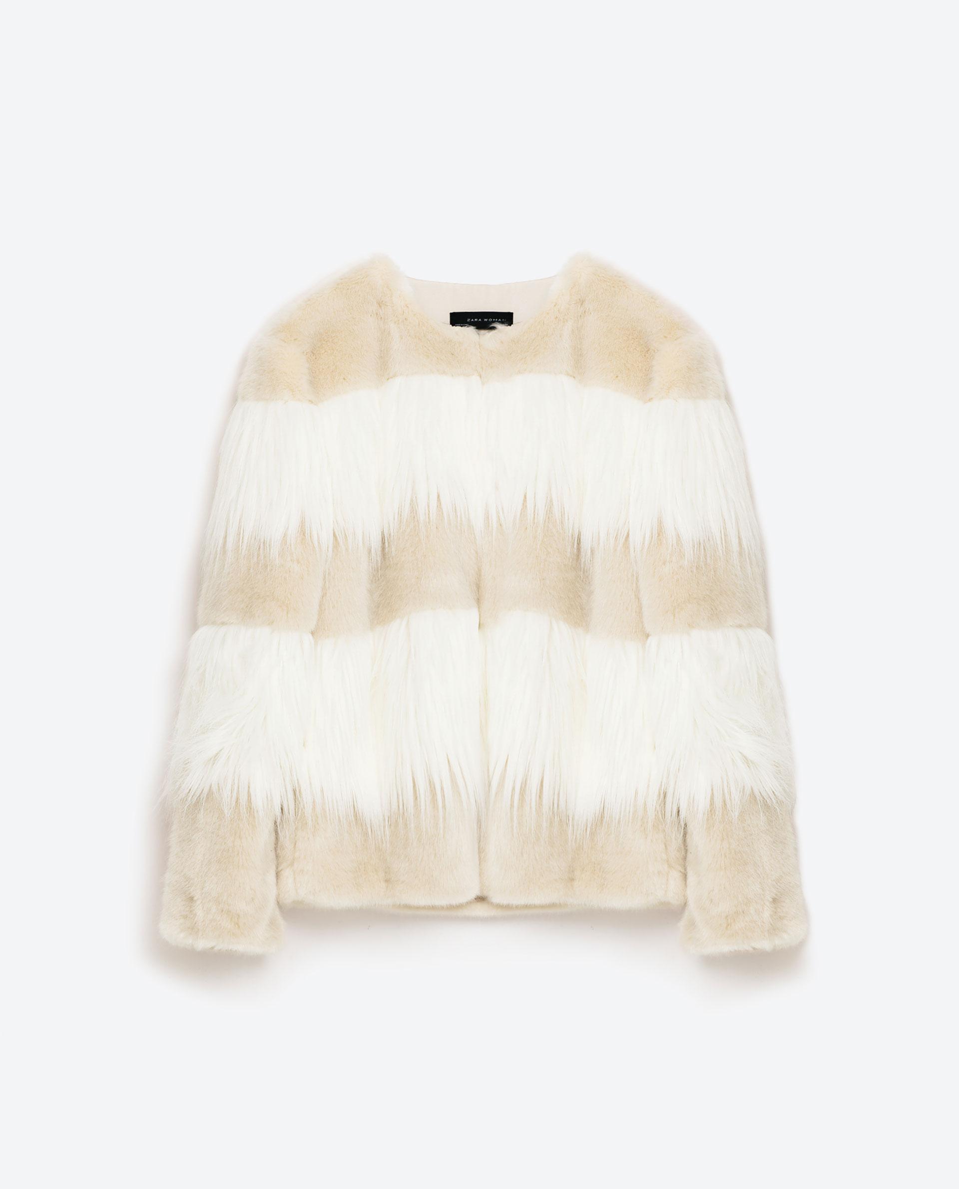 Zara Short Contrast Coat