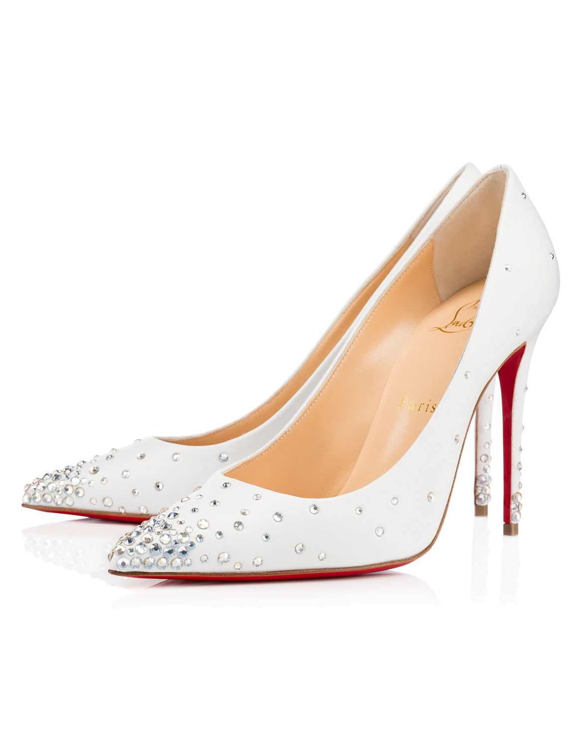 Leather & Crystal Wedding Shoes