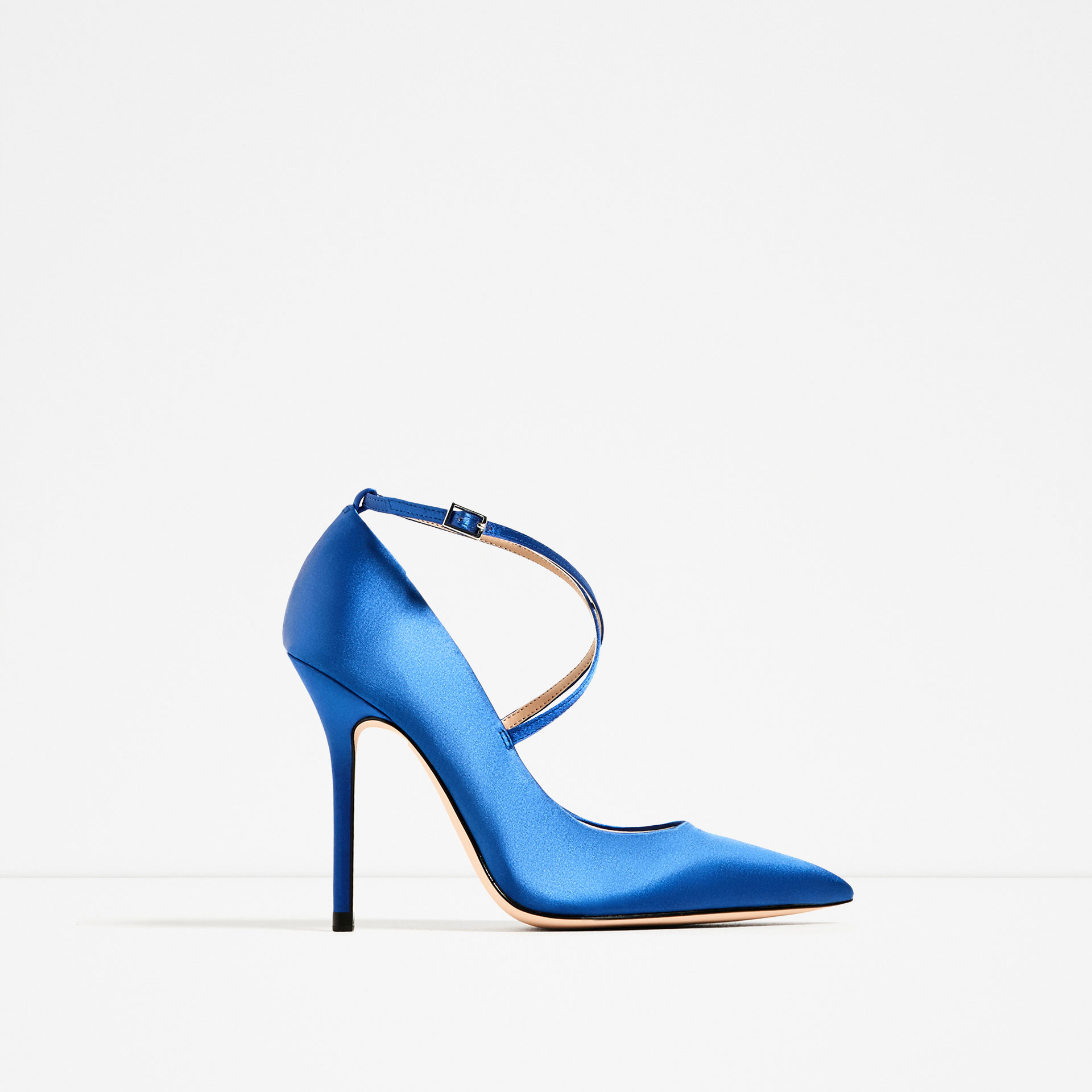 wedding shoes blue satin