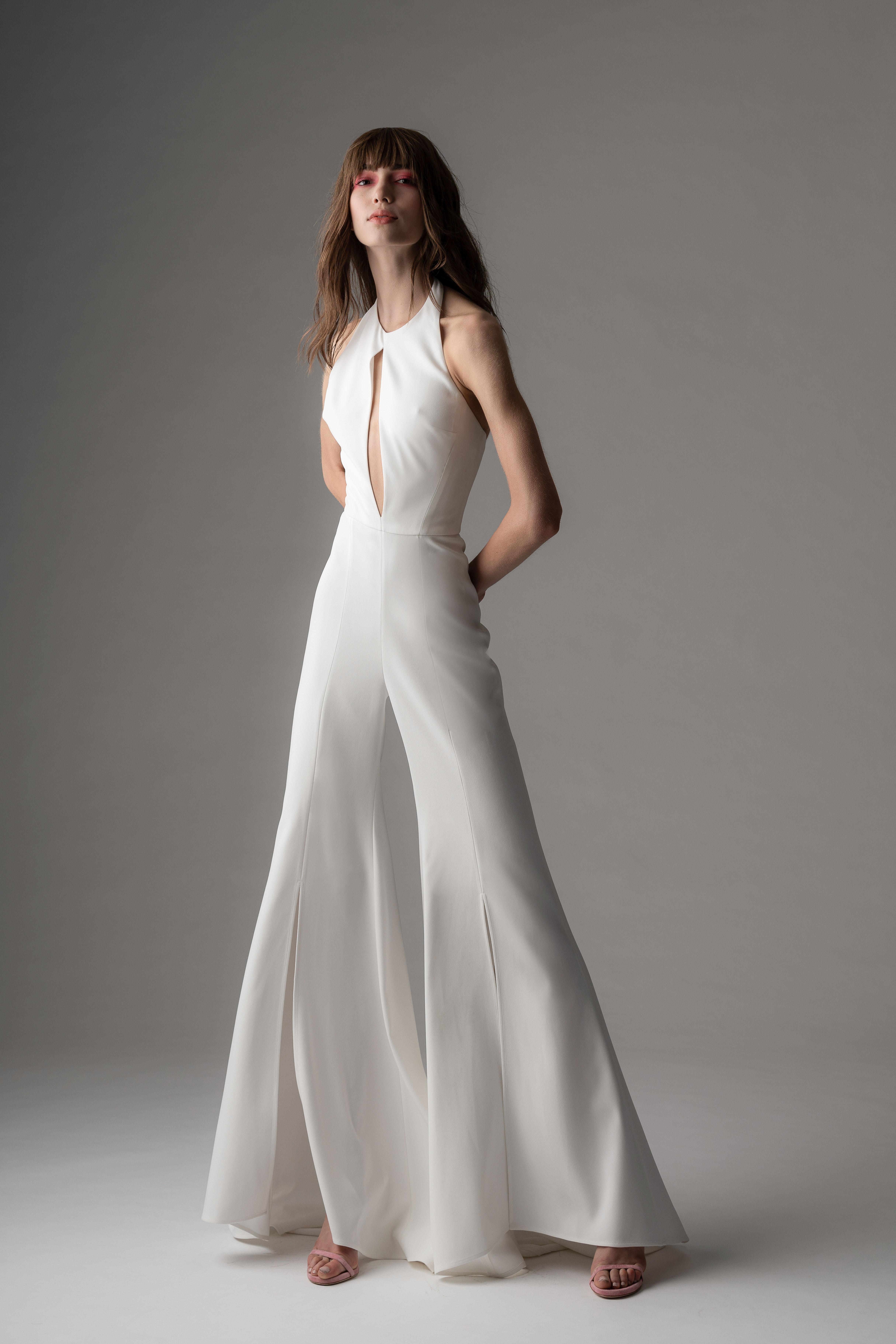 rivini by rita fall 2019 high neck jumpsuit wedding dress