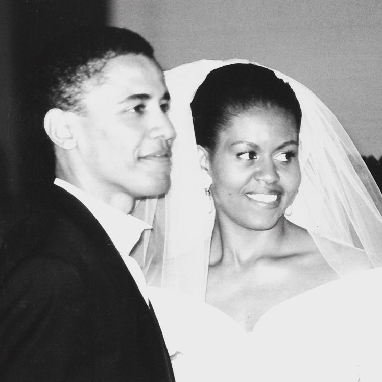 Barack Obama and Michelle Obama Wedding Day