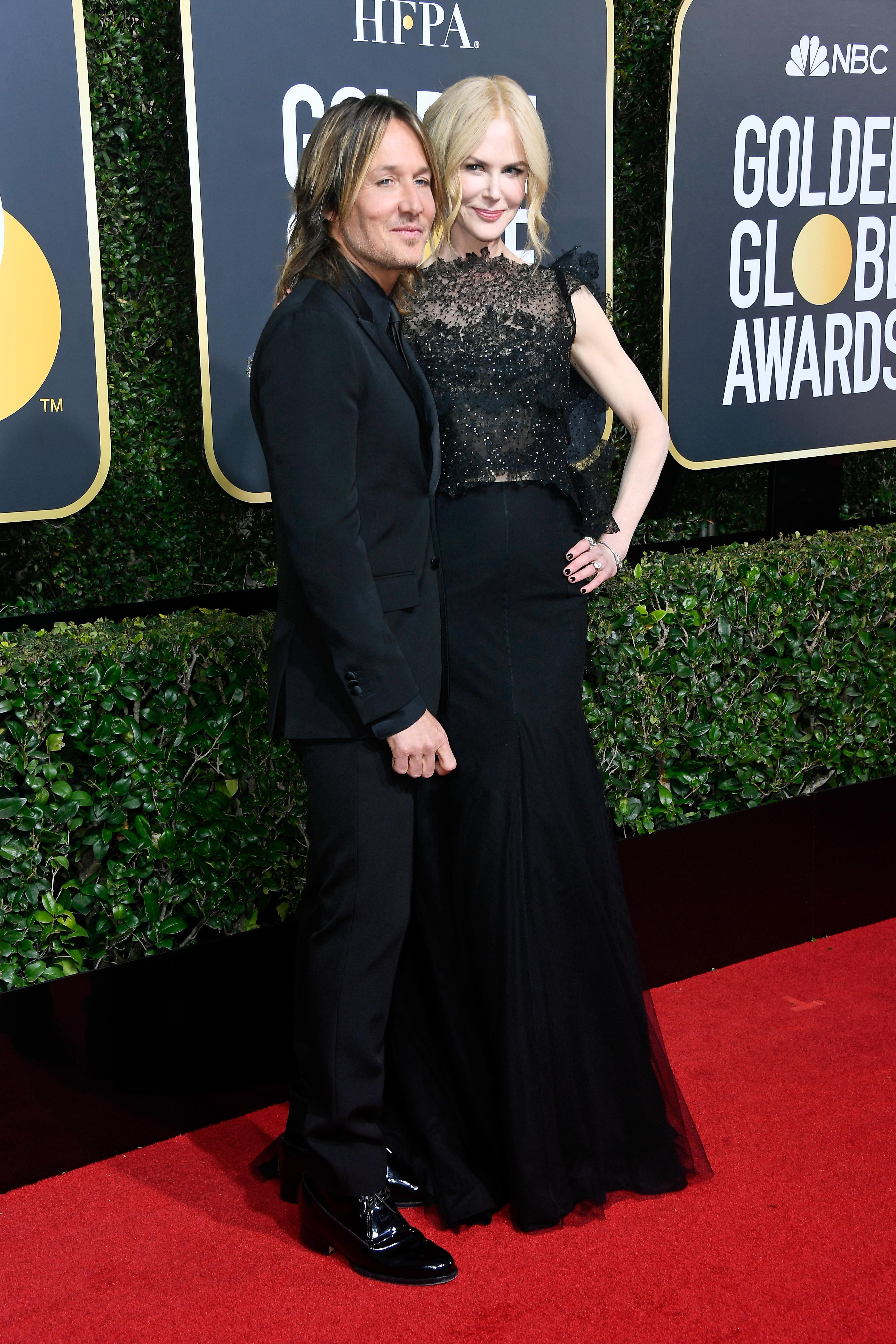 Nicole Kidman and Keith Urban Golden Globes 2018