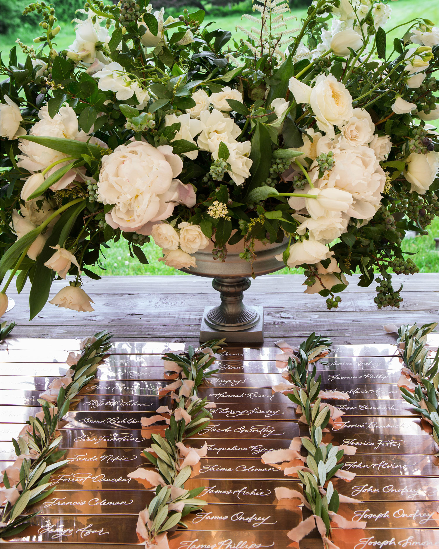 Classic White Rose Centerpiece