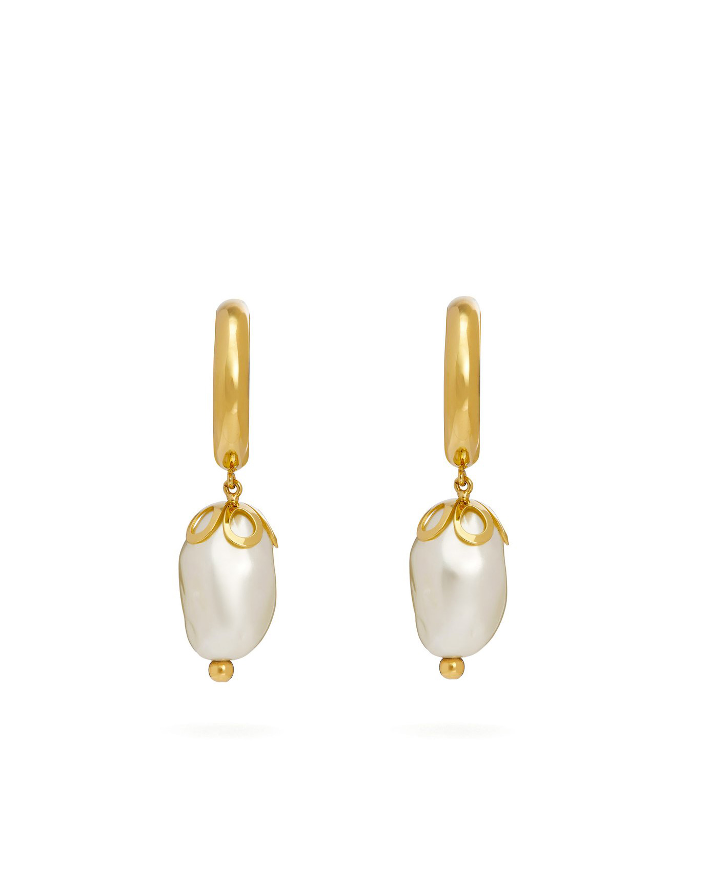 Ornate Baroque-Pearl Earrings