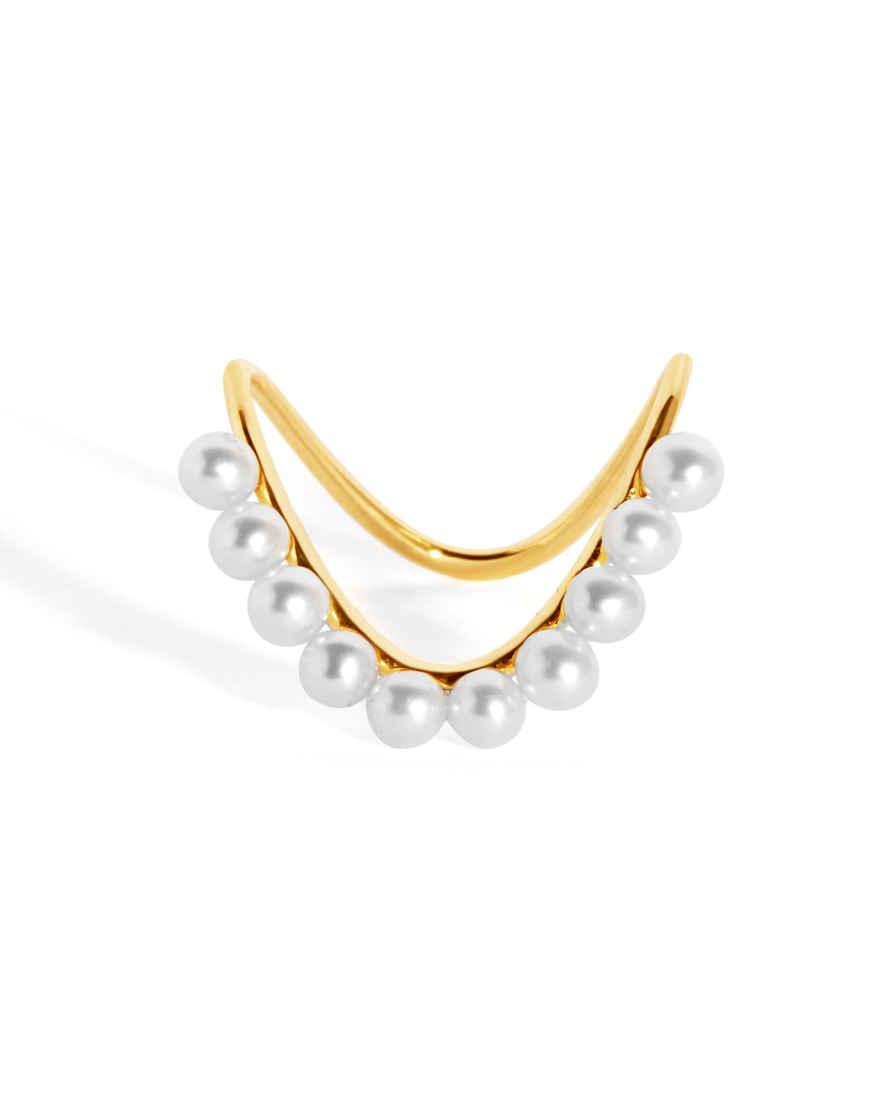 Perle Heirloom 9-Karat Gold Pearl Ring