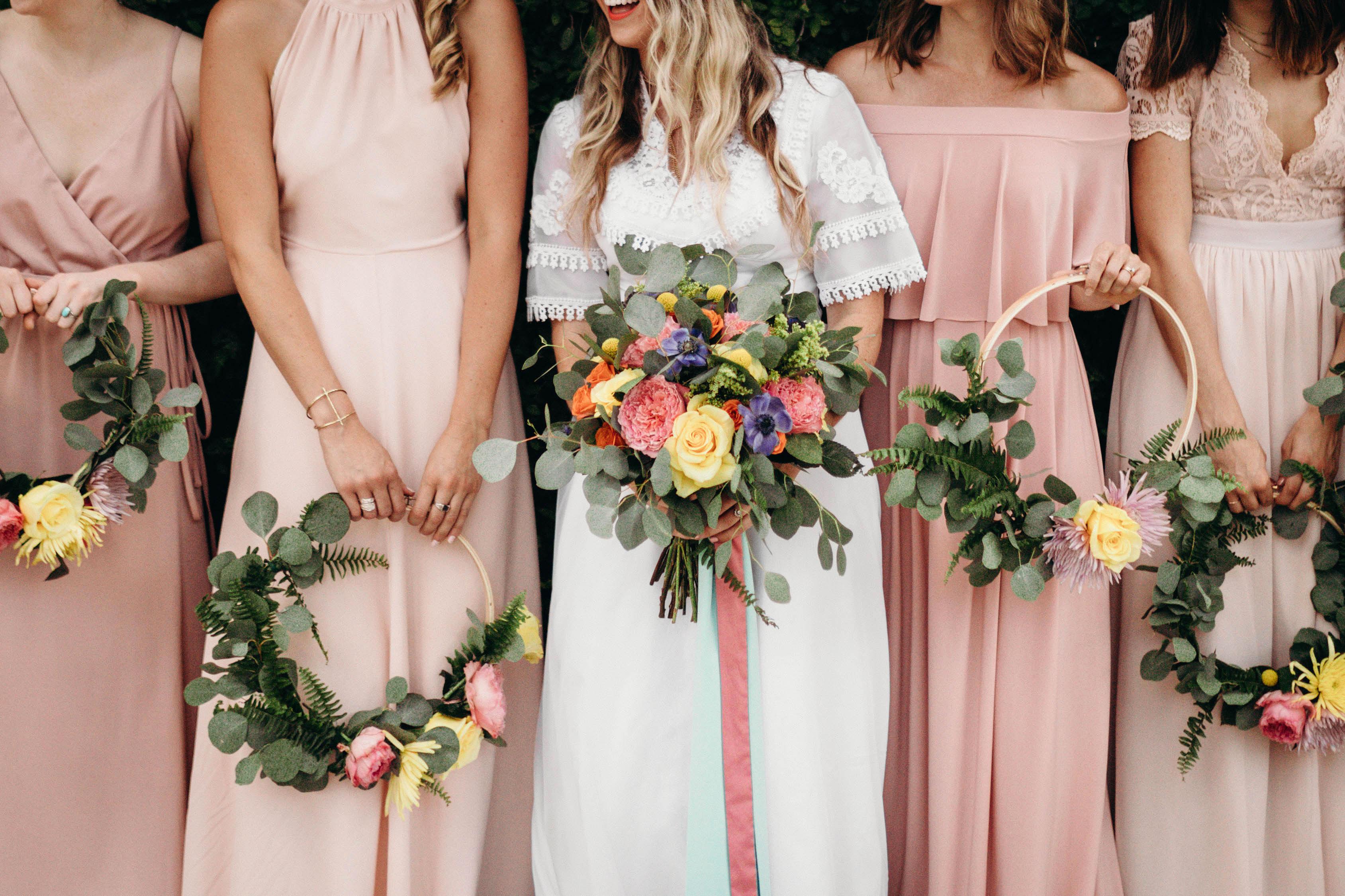 hoop bouquets