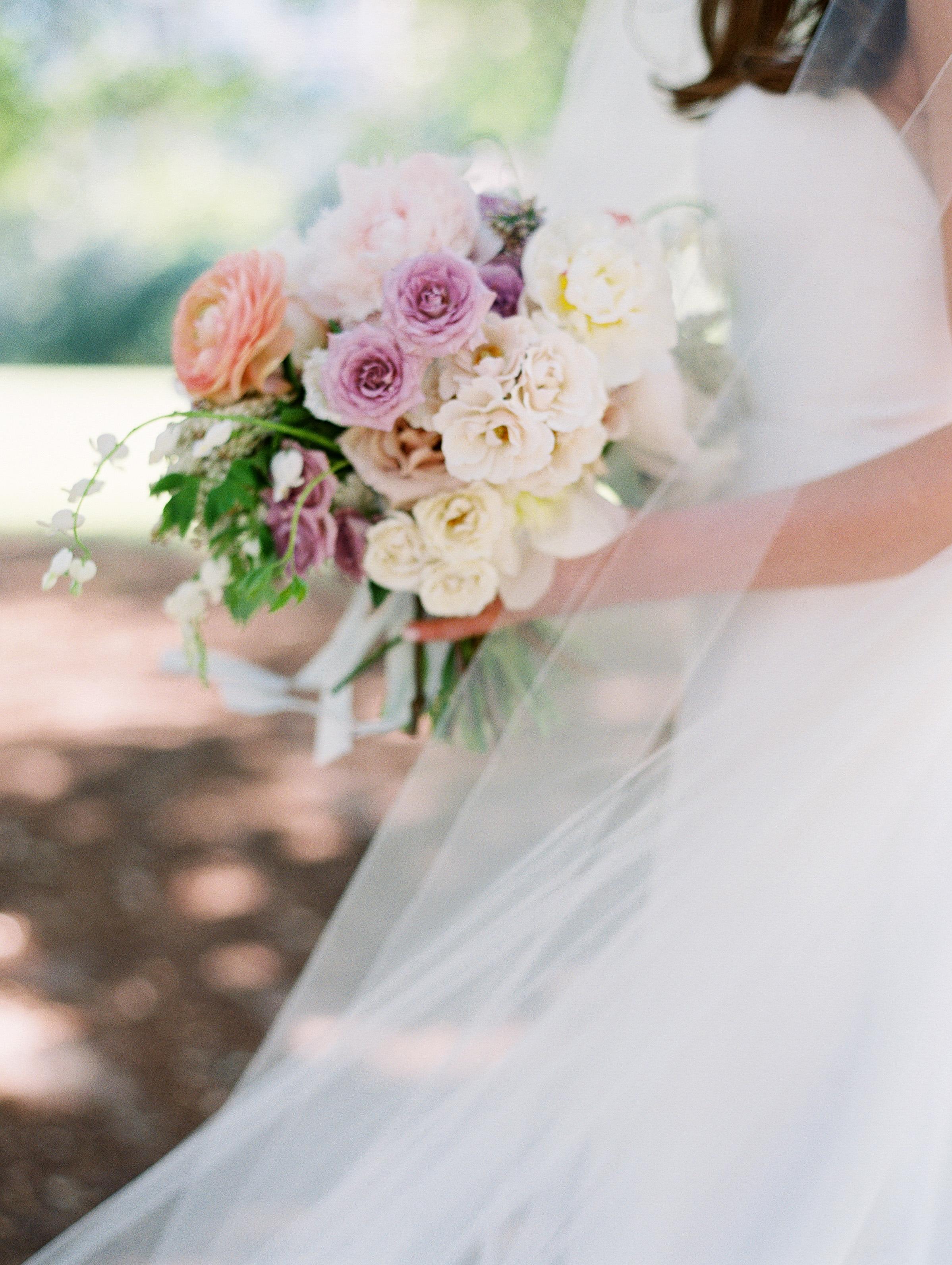 bouquet flowers pastel colors