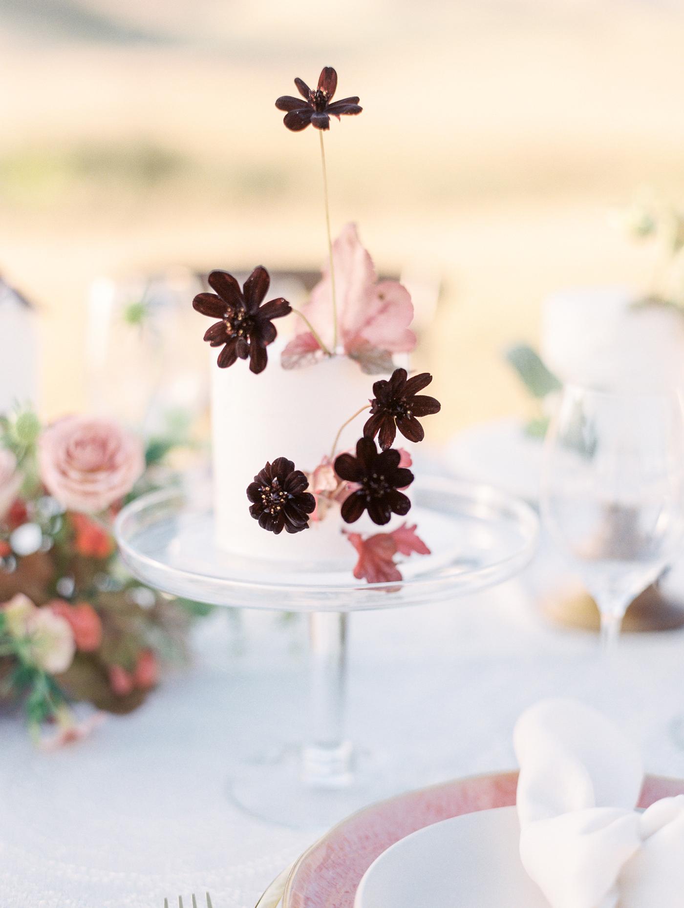 Wildflower Garnished individual cakes