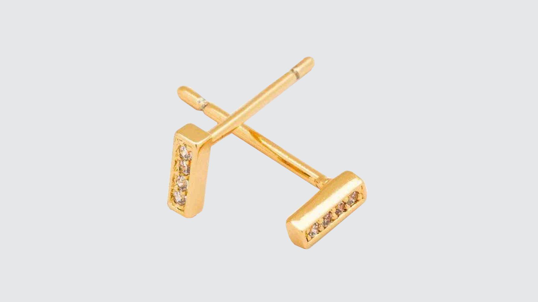 gorjana shimmer studs earrings