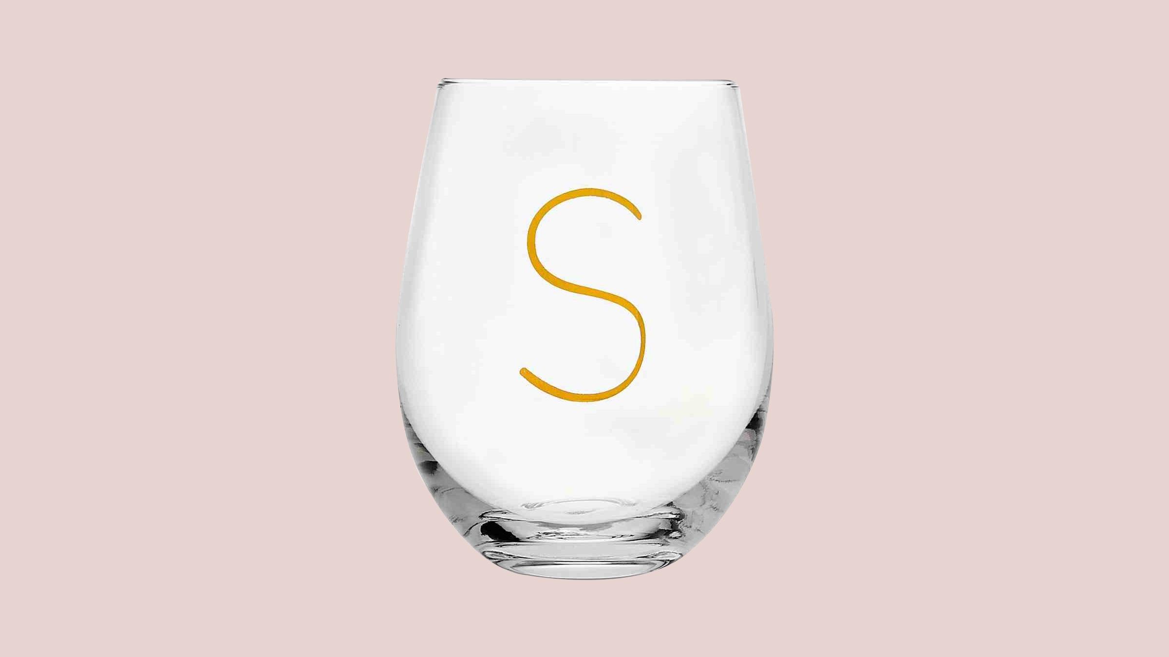 godinger initial glass