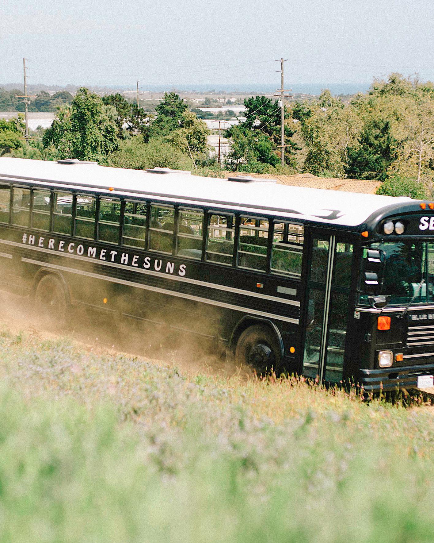 perri phil wedding bus