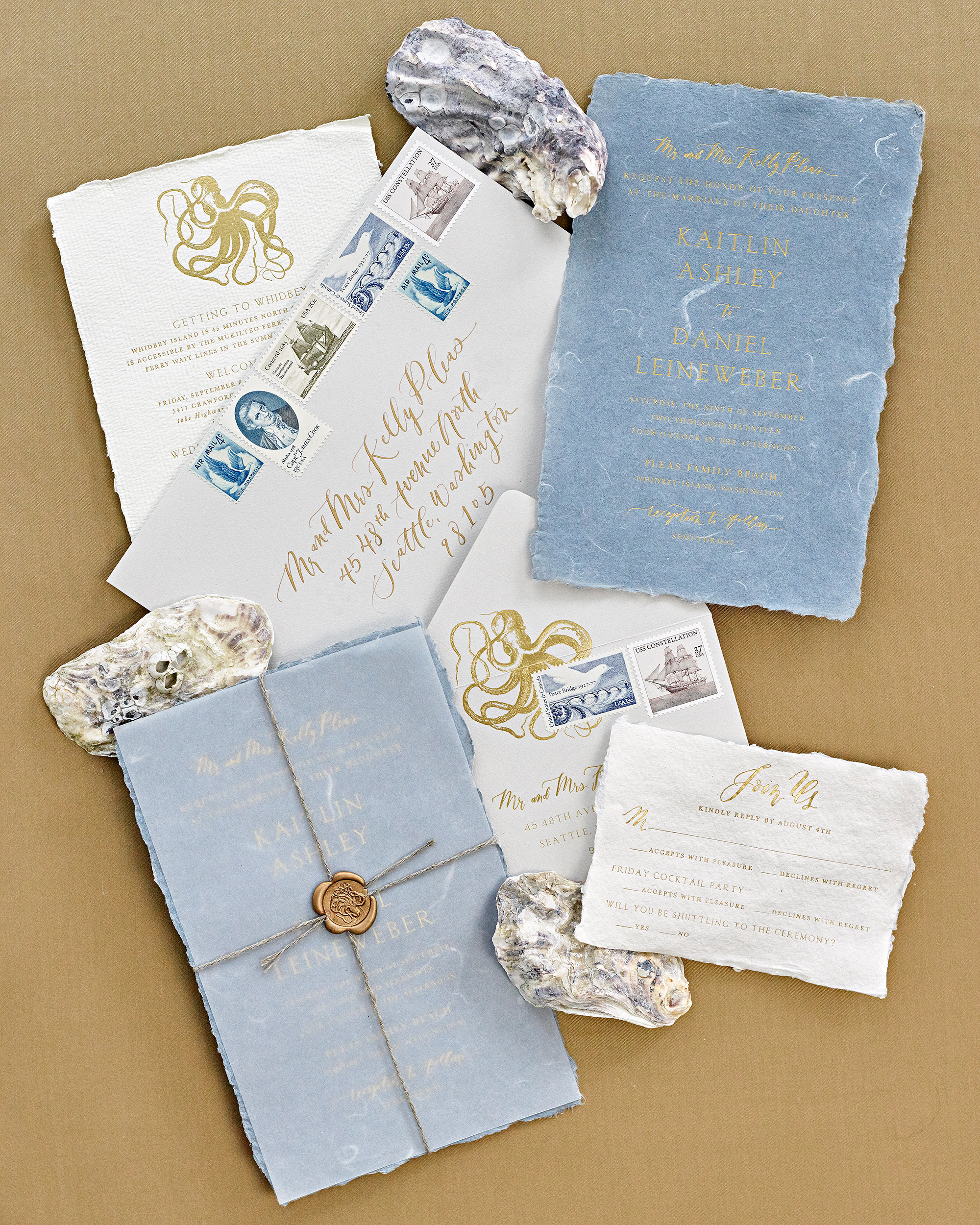 kaitlin dan wedding invitations