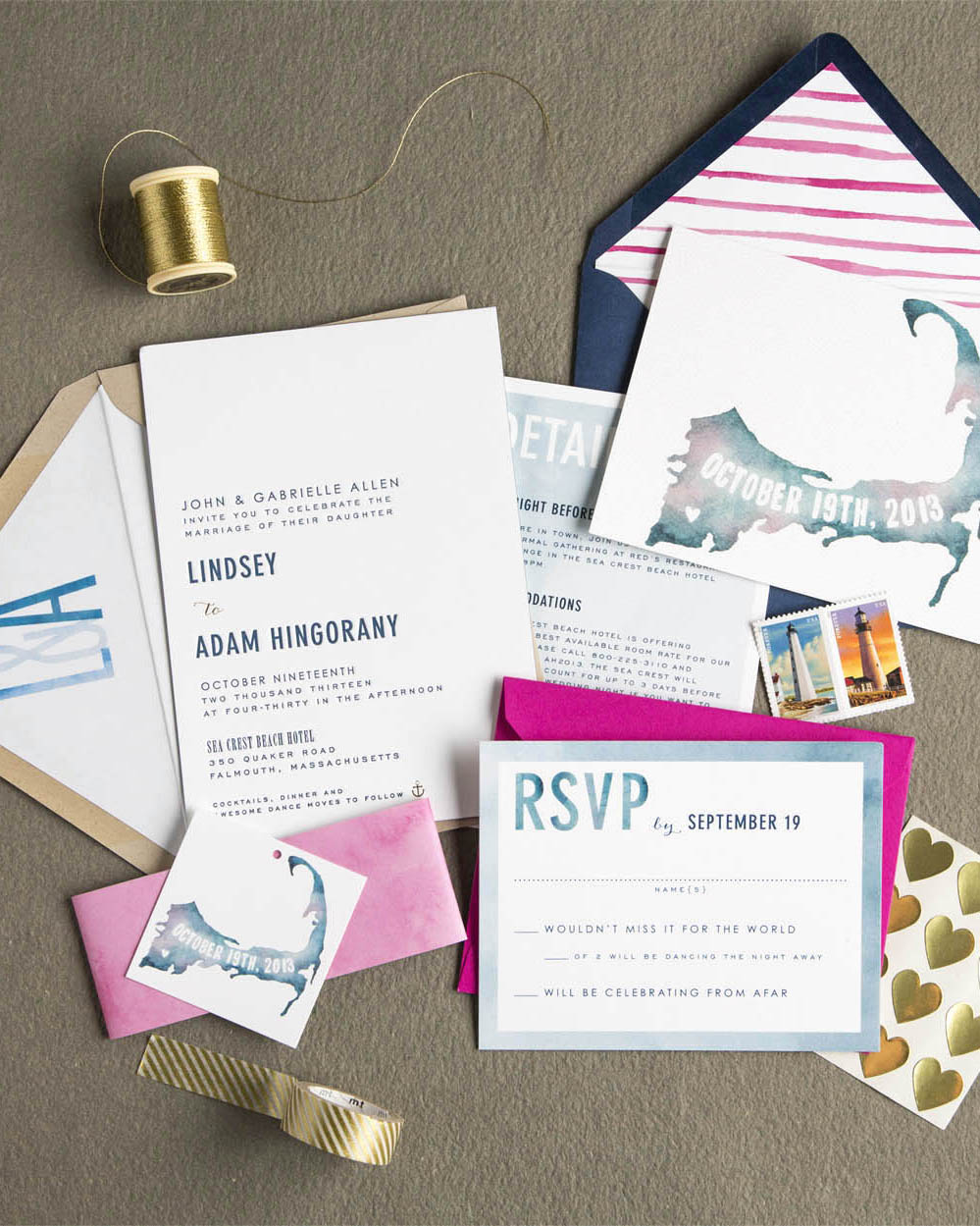 nautical invitation water color swiss cottage designs