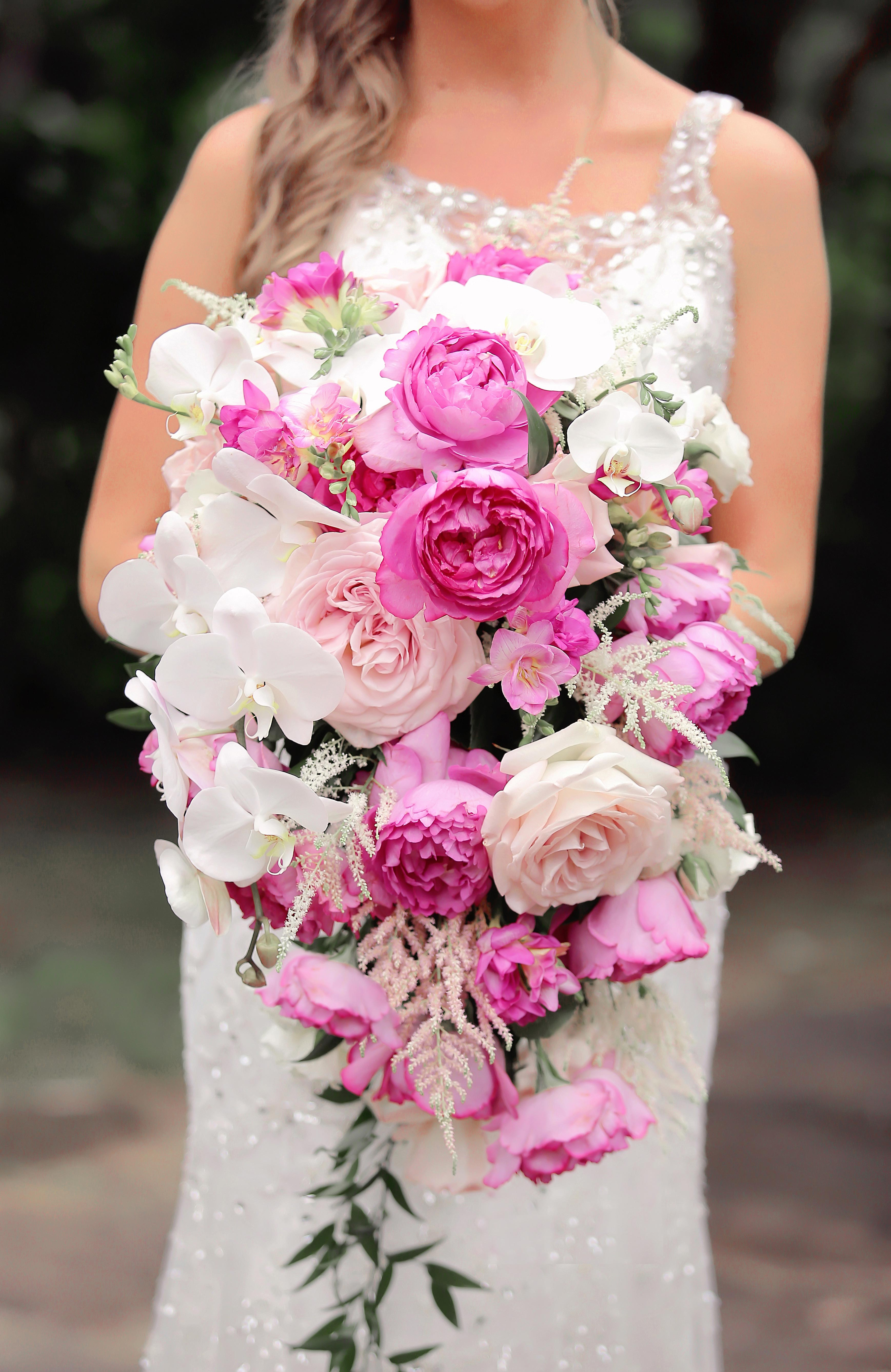 pink white bouquet