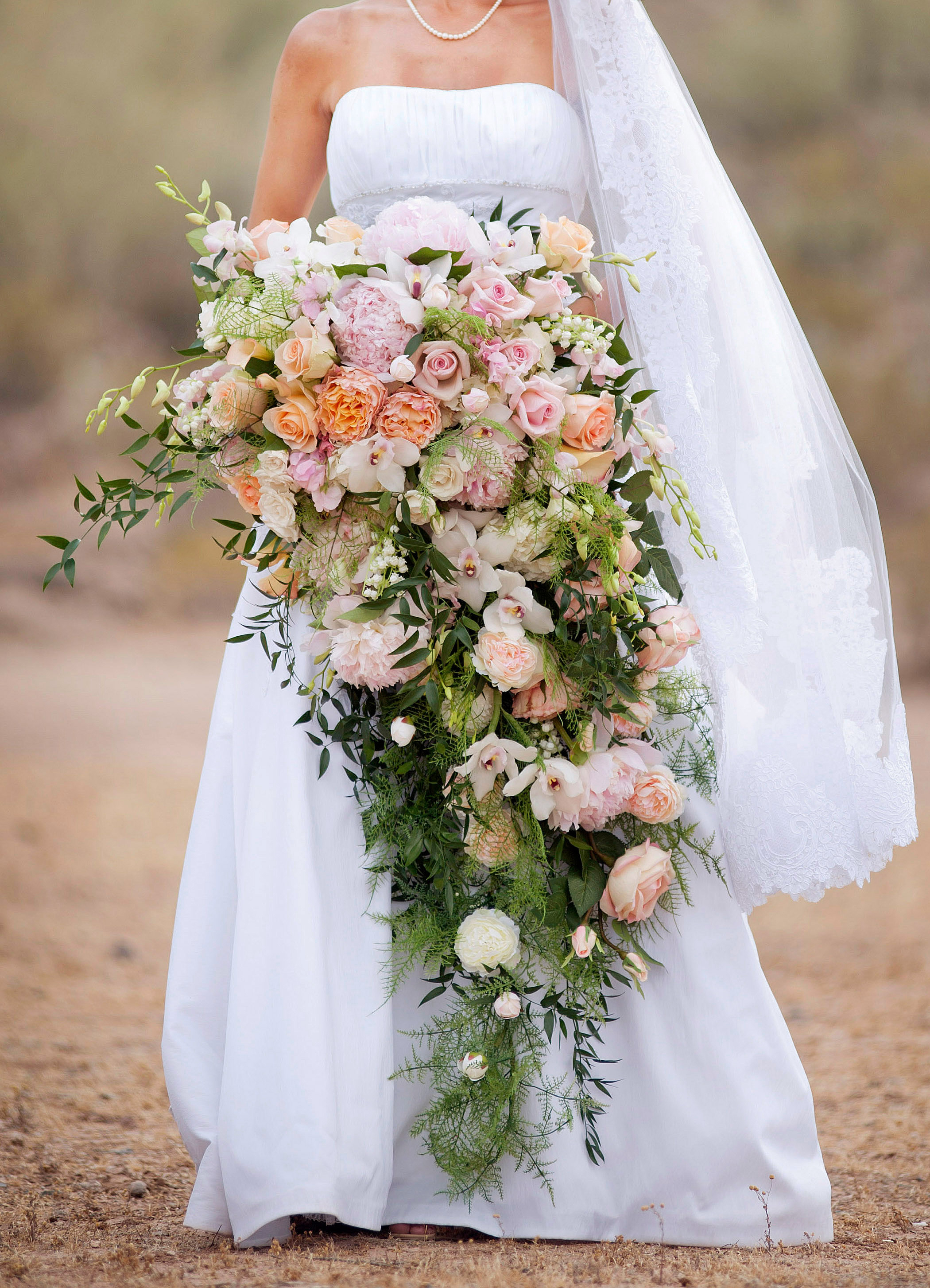 large cascading bouquet