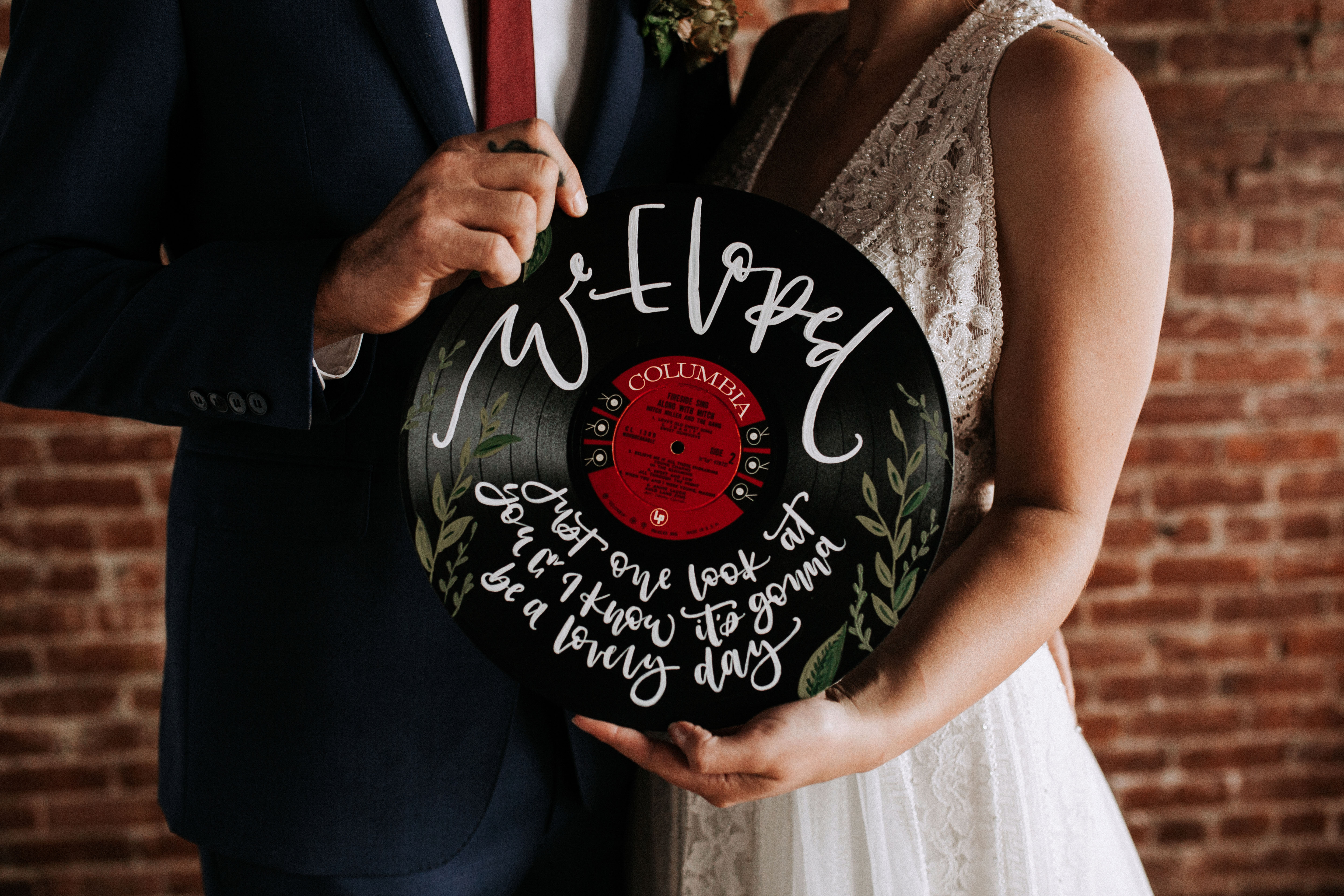 we eloped sign record vinyl couple