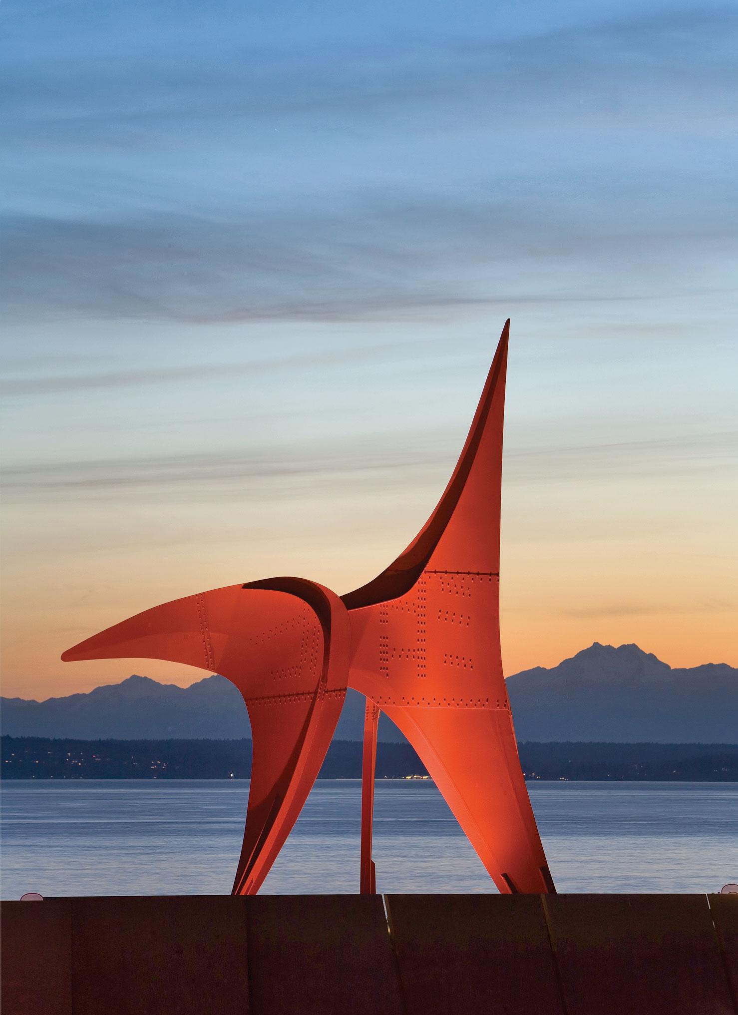 "Alexander Calder's ""The Eagle"" at Olympic Sculpture Park"