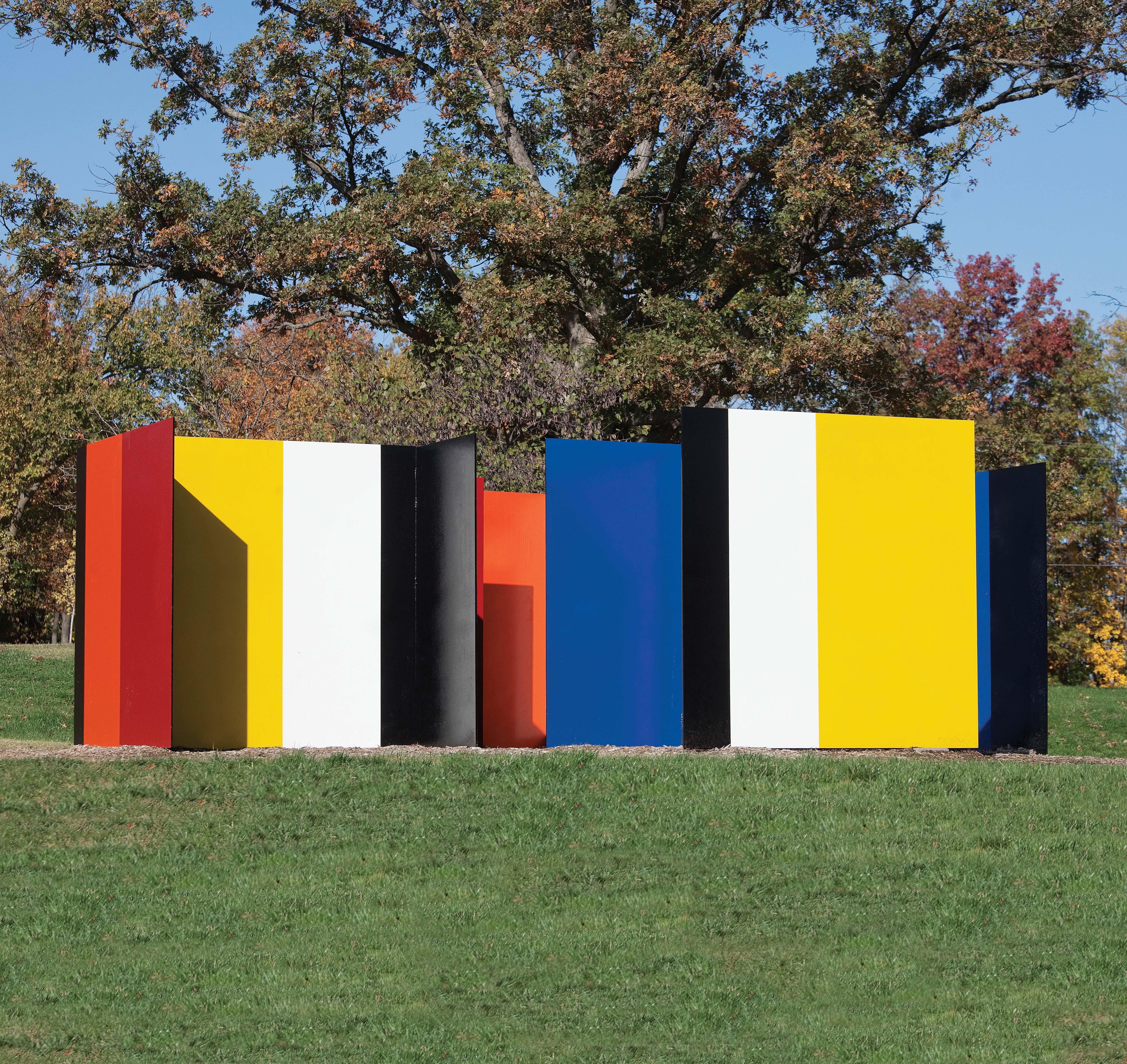 "Tony Rosenthal's ""House of the Minotaur"" at Laumeier Sculpture Park"