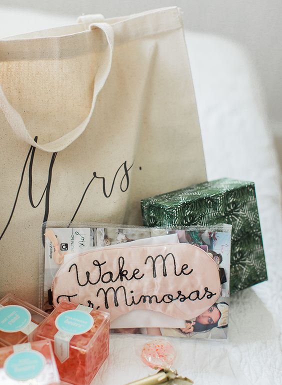 Mimosa Eye Masks bachelorette party favors
