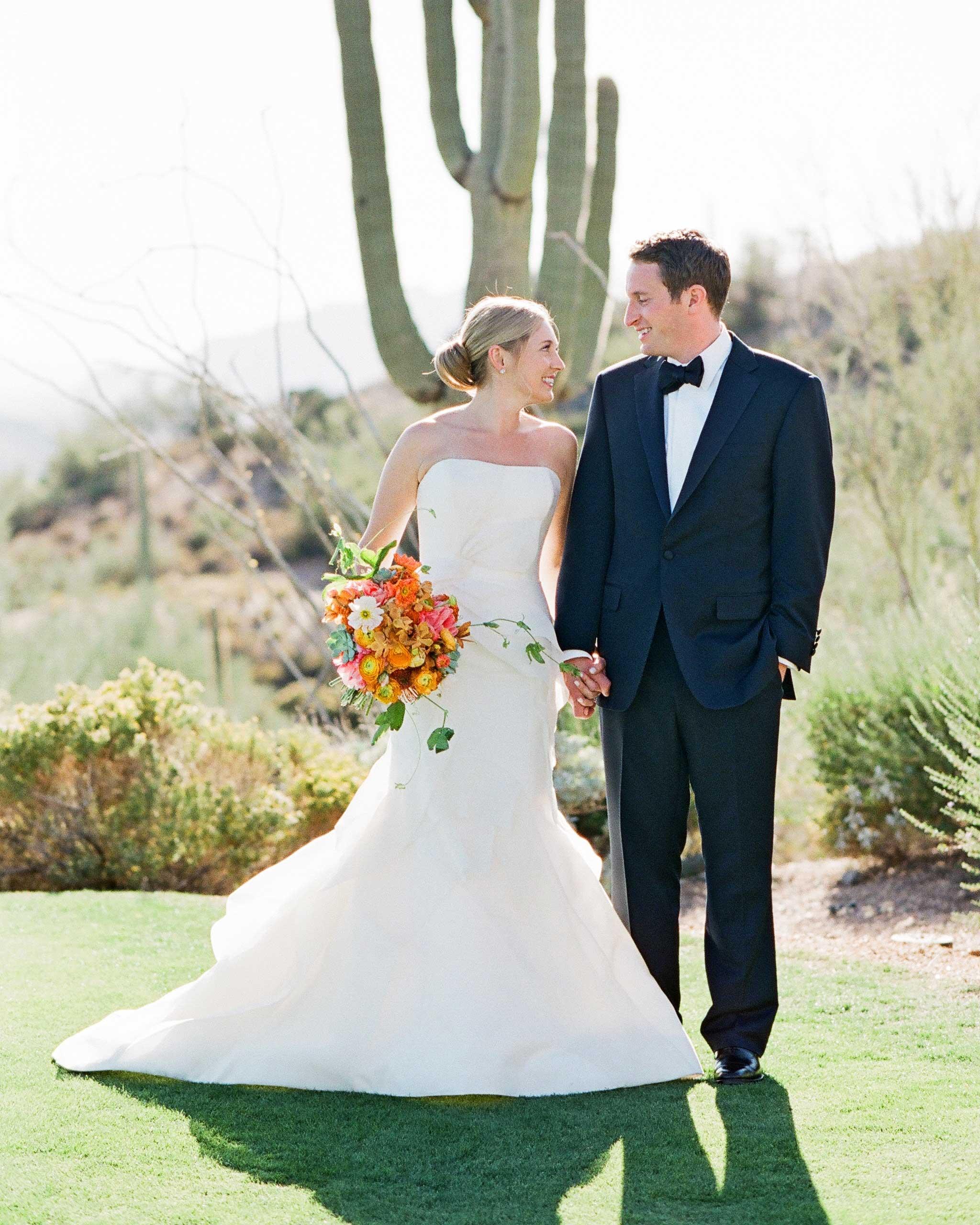 addie alex wedding couple cactus