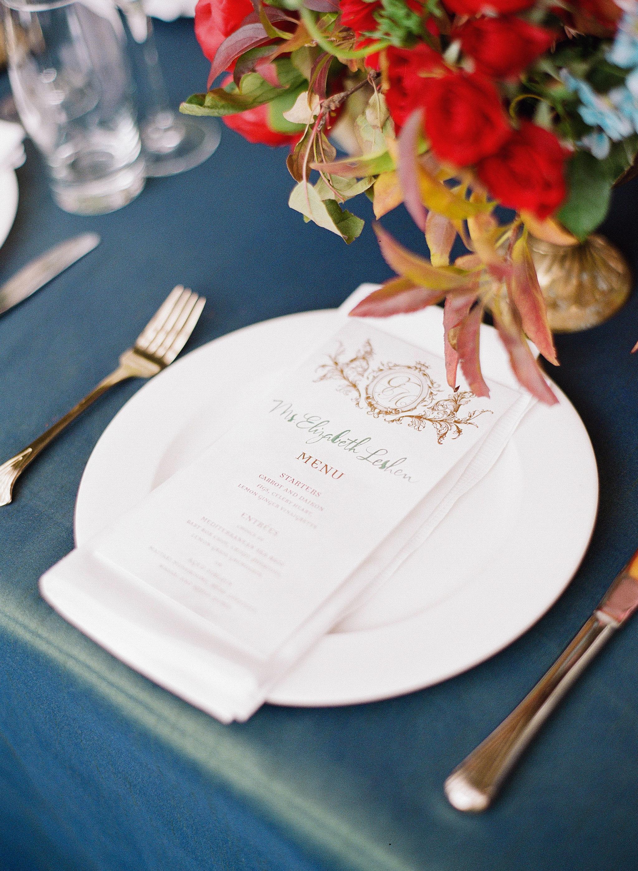 glara matthew wedding placesetting