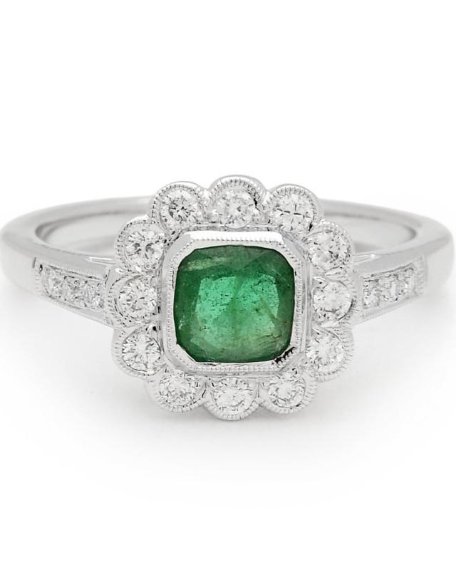 Anna Sheffield Emerald Engagement Ring