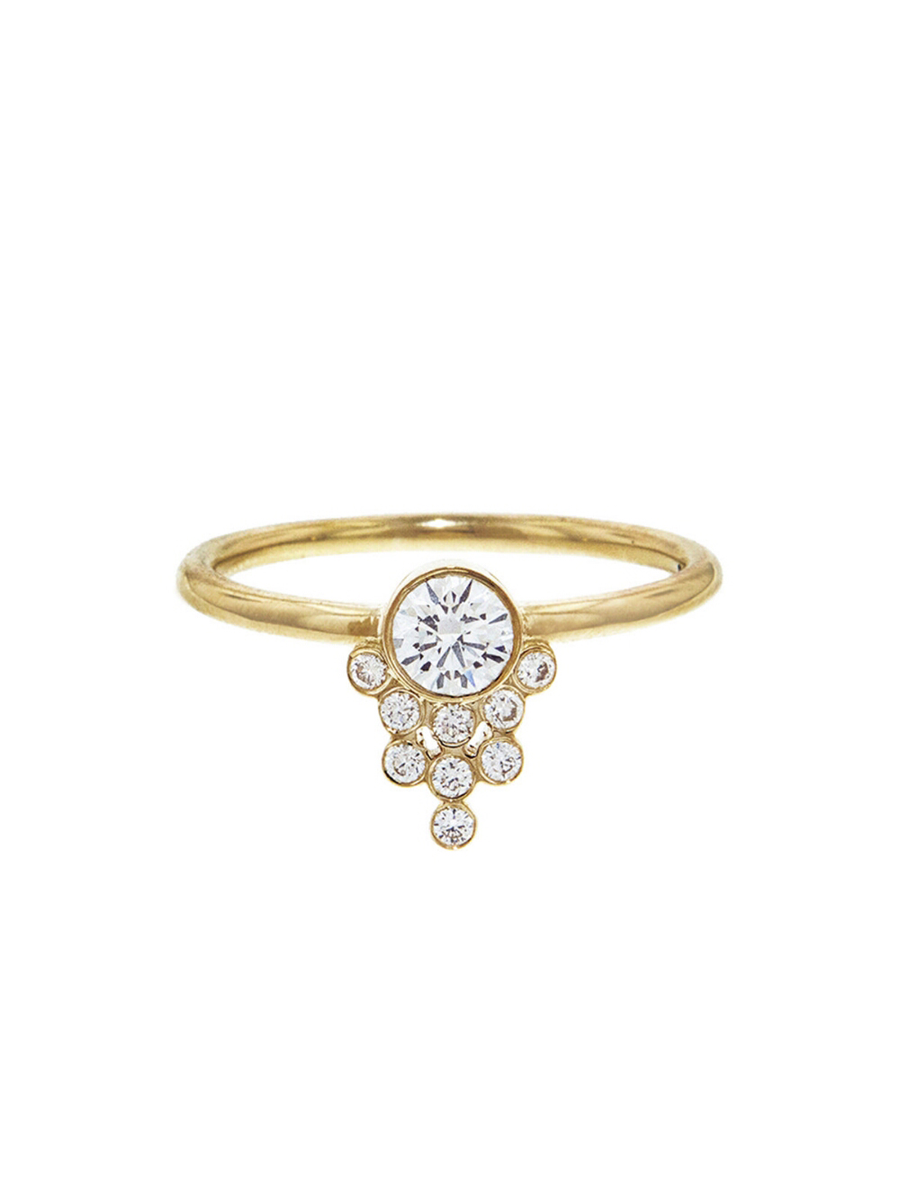 Diamond Cluster Drop Ring