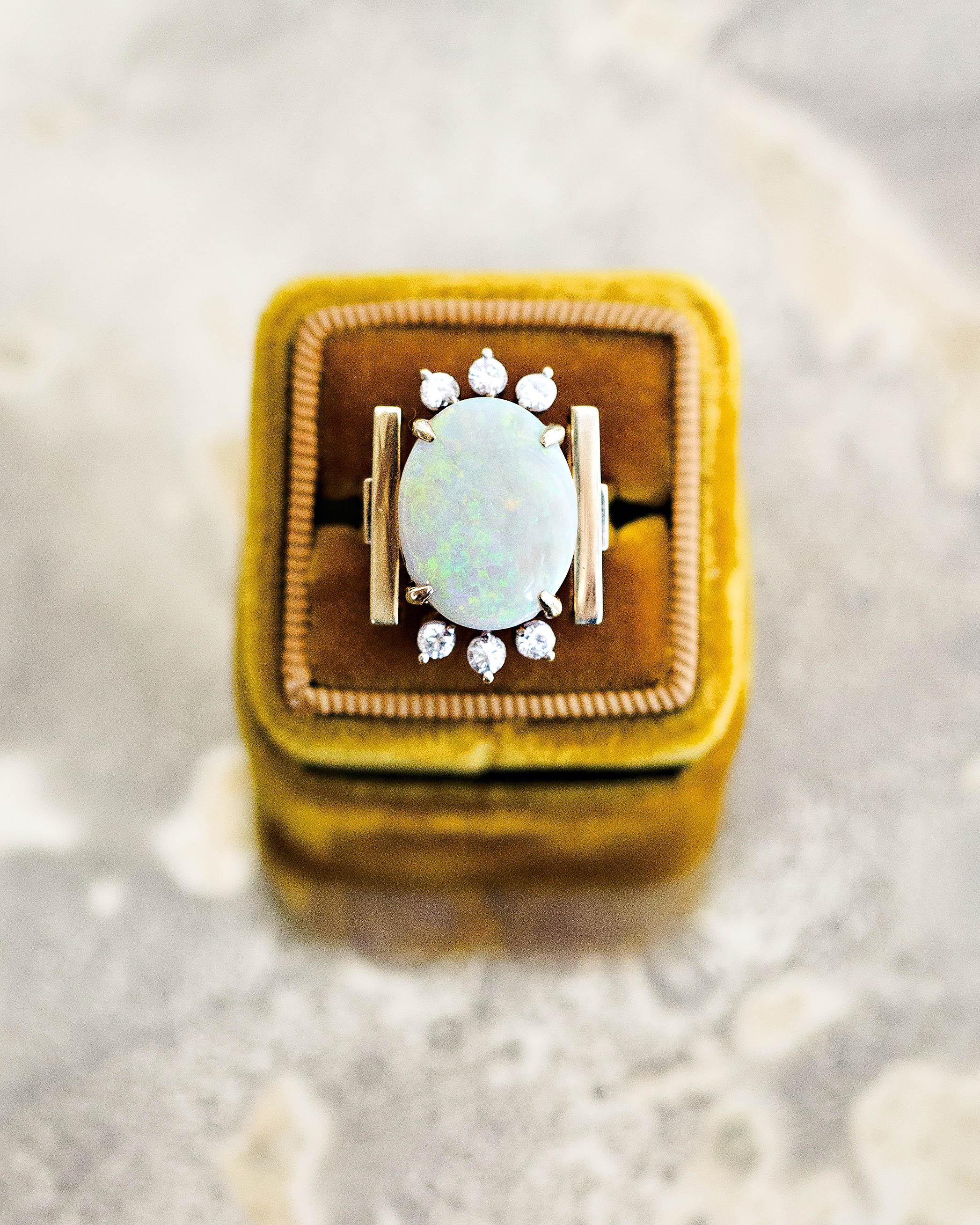 britt courtney wedding minnesota opal ring wedding gift