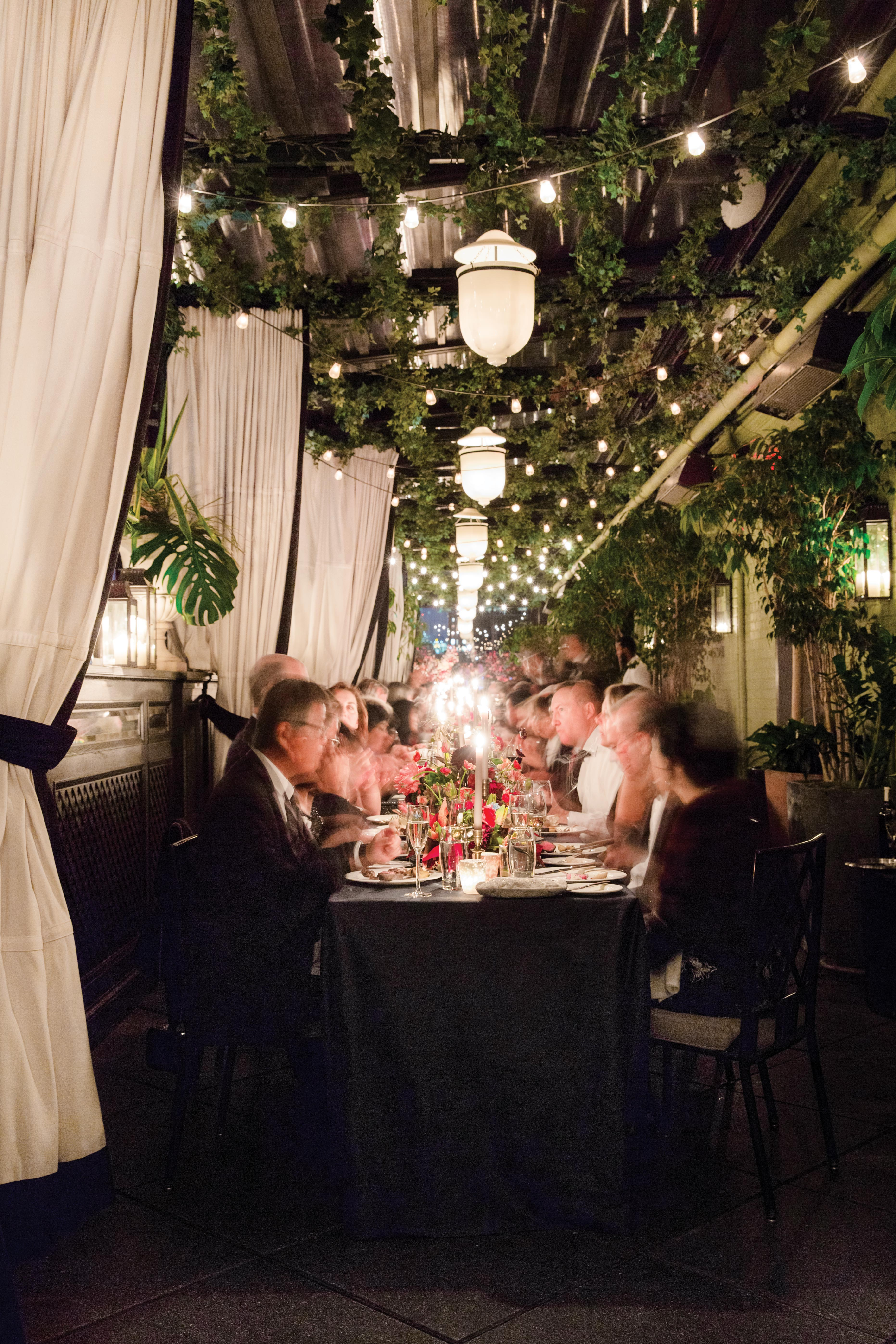glara matthew wedding guests at tables