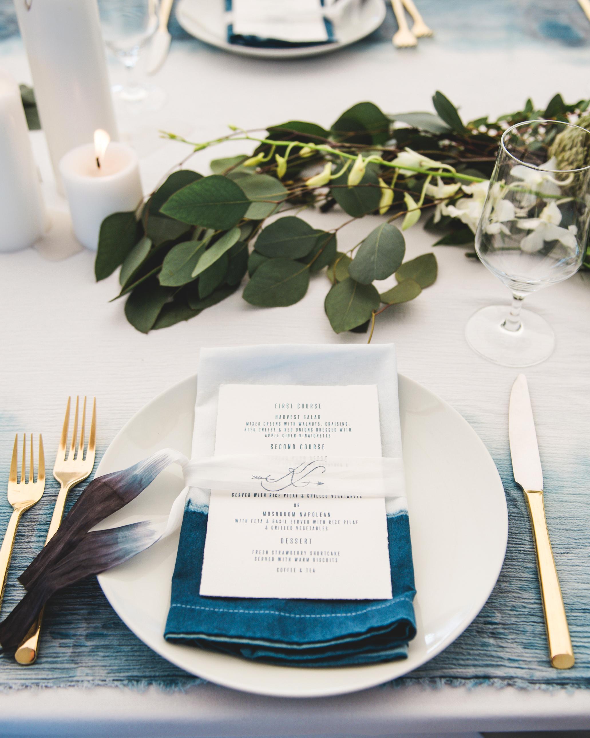 katie simon wedding place setting