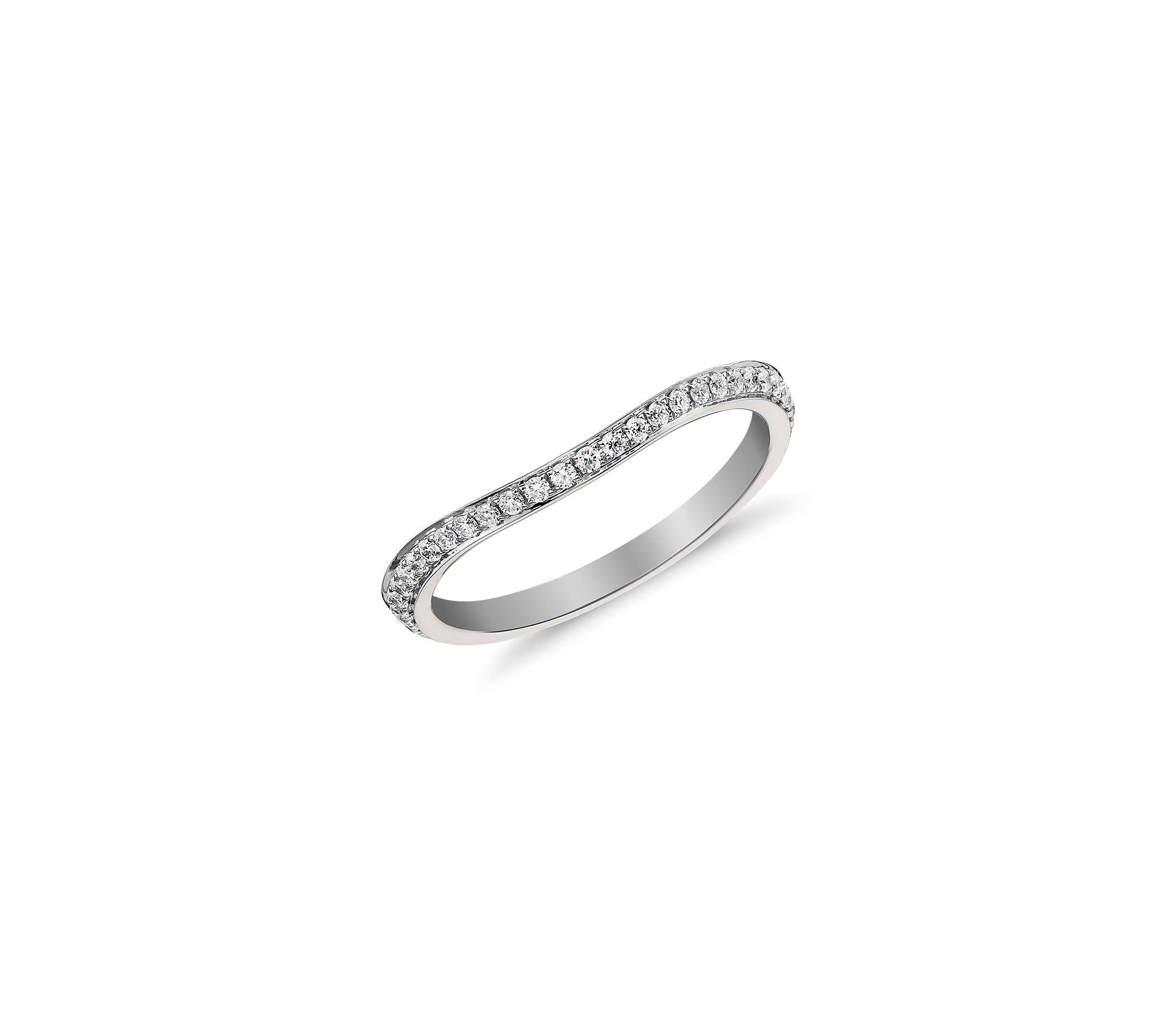 odd wedding band monique lhuillier curved