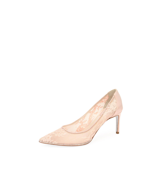nude shoe pink floral grace pumps