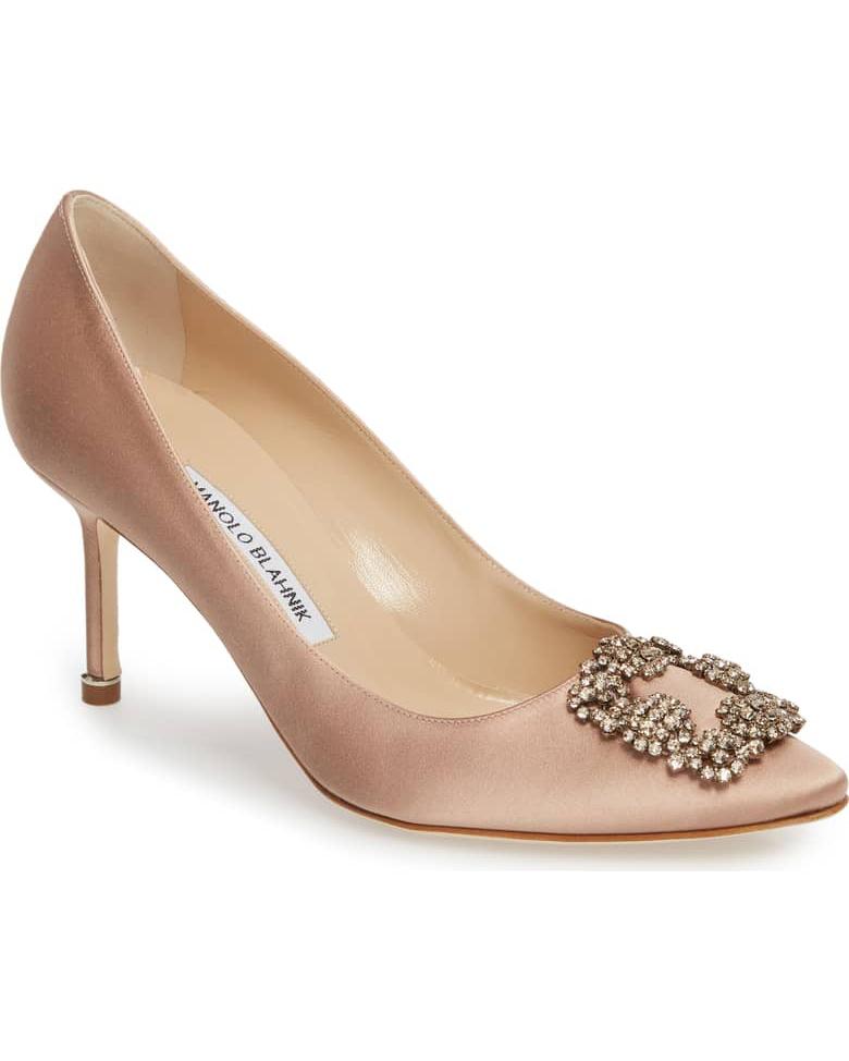nude shoe tan crystal hight heel pumps