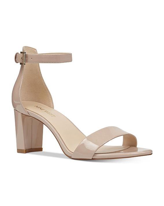 nude shoe block heel sandals