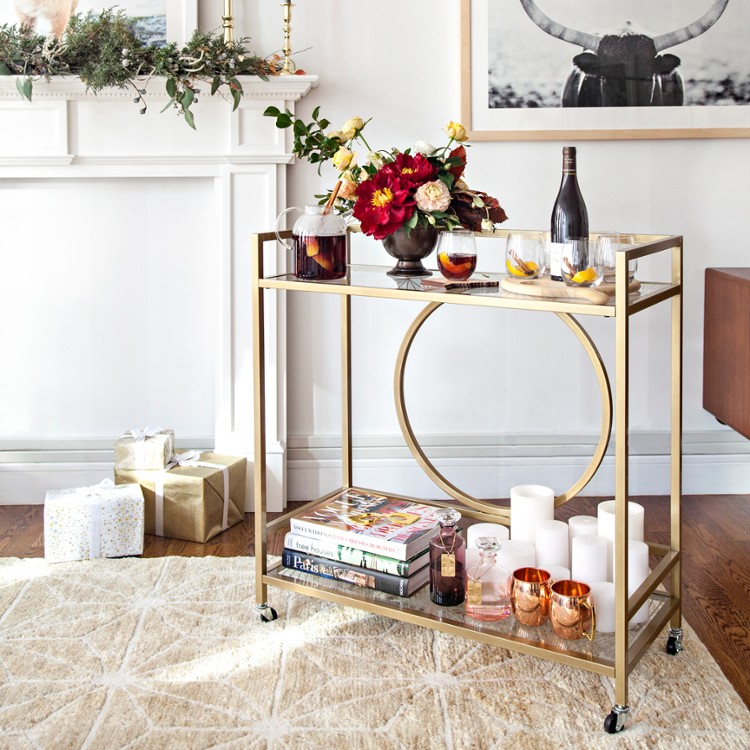 Decorated Bar Cart