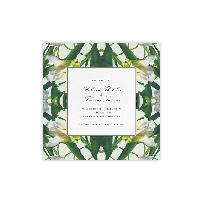 save the dates paperless post floral design