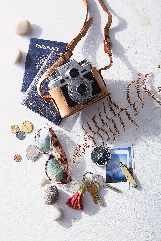 honeymoon planner camera and passport
