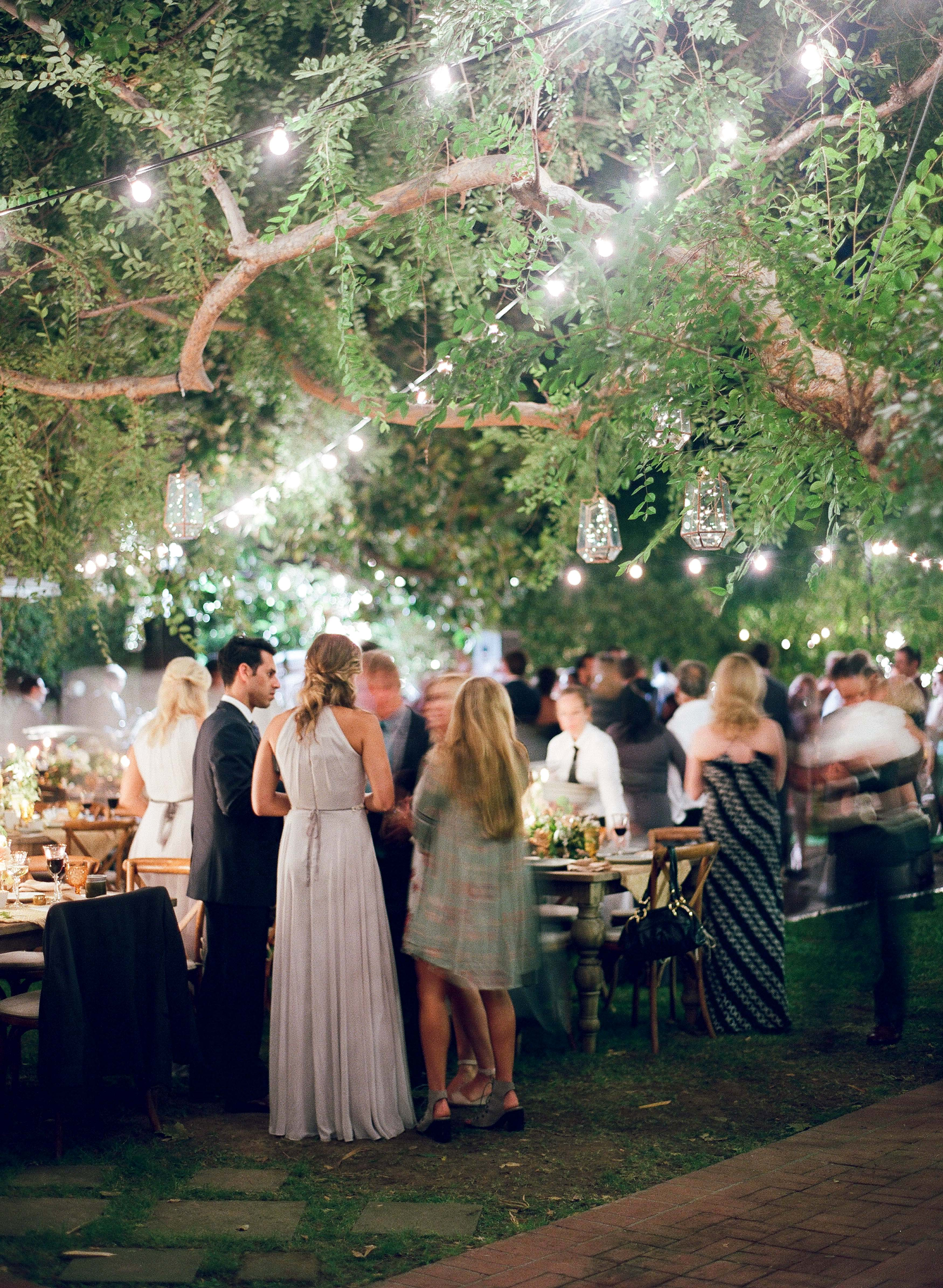guests at outdoor reception