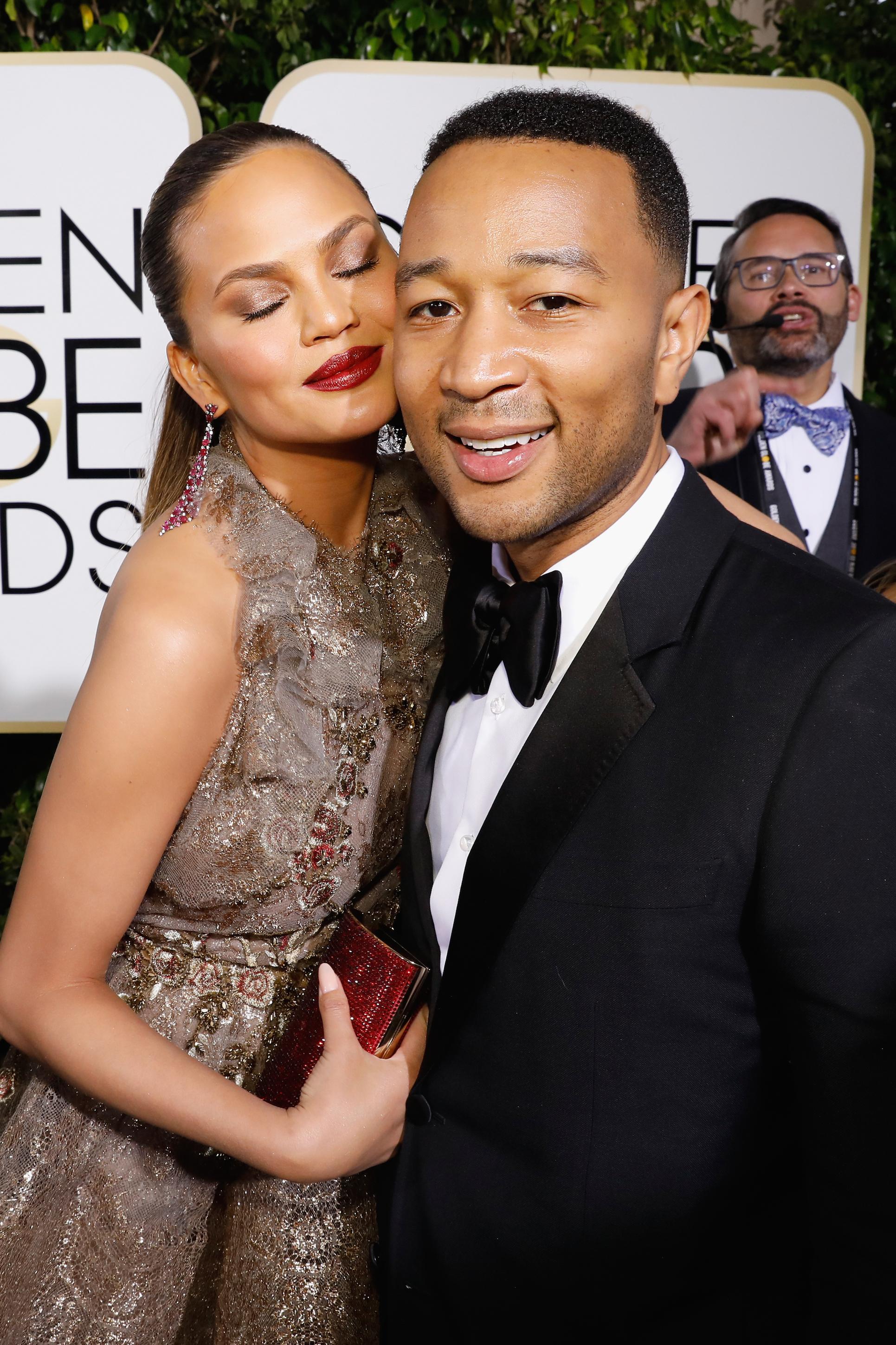 Chrissy Teigen and John Legend Golden Globes 2017