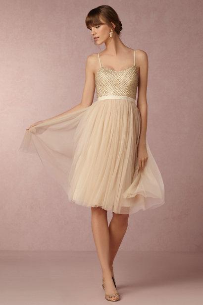 Gold Bridesmaid Dresses Martha Weddings
