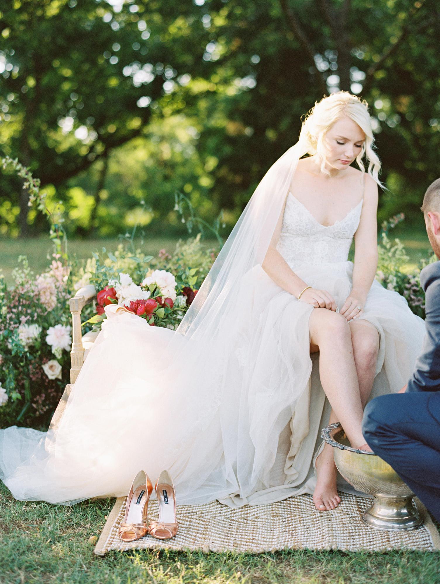 wedding foot wash