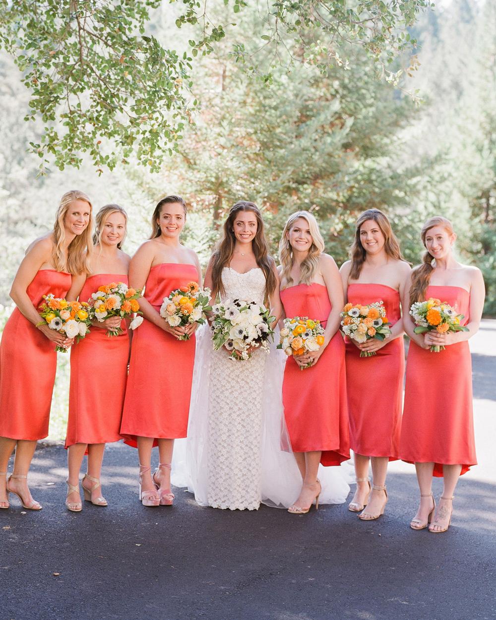 alessa andrew wedding bridesmaids