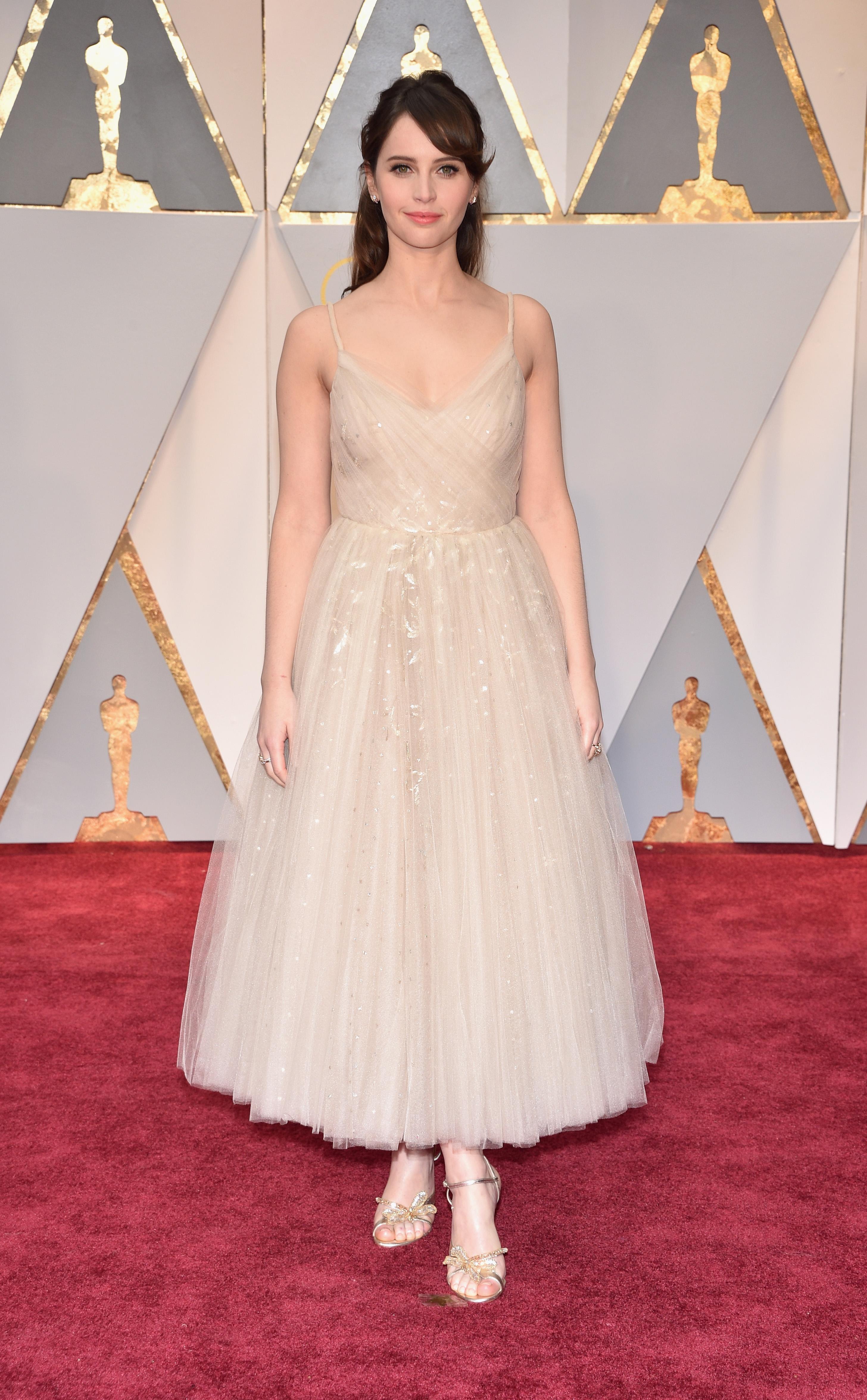 Felicity Jones 2017 Oscars Red Carpet